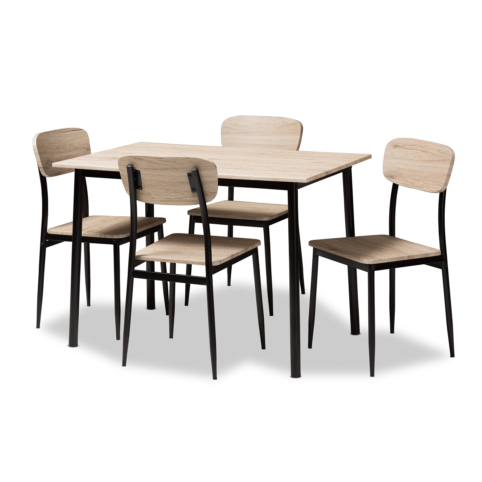 Millwood Pines Wiggs 5 Piece Dining Set & Reviews | Wayfair Throughout Most Recent Kaelin 5 Piece Dining Sets (View 4 of 20)