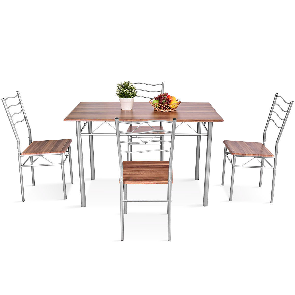 Miskell 5 Piece Dining Set Intended For Current Stouferberg 5 Piece Dining Sets (Photo 16 of 20)