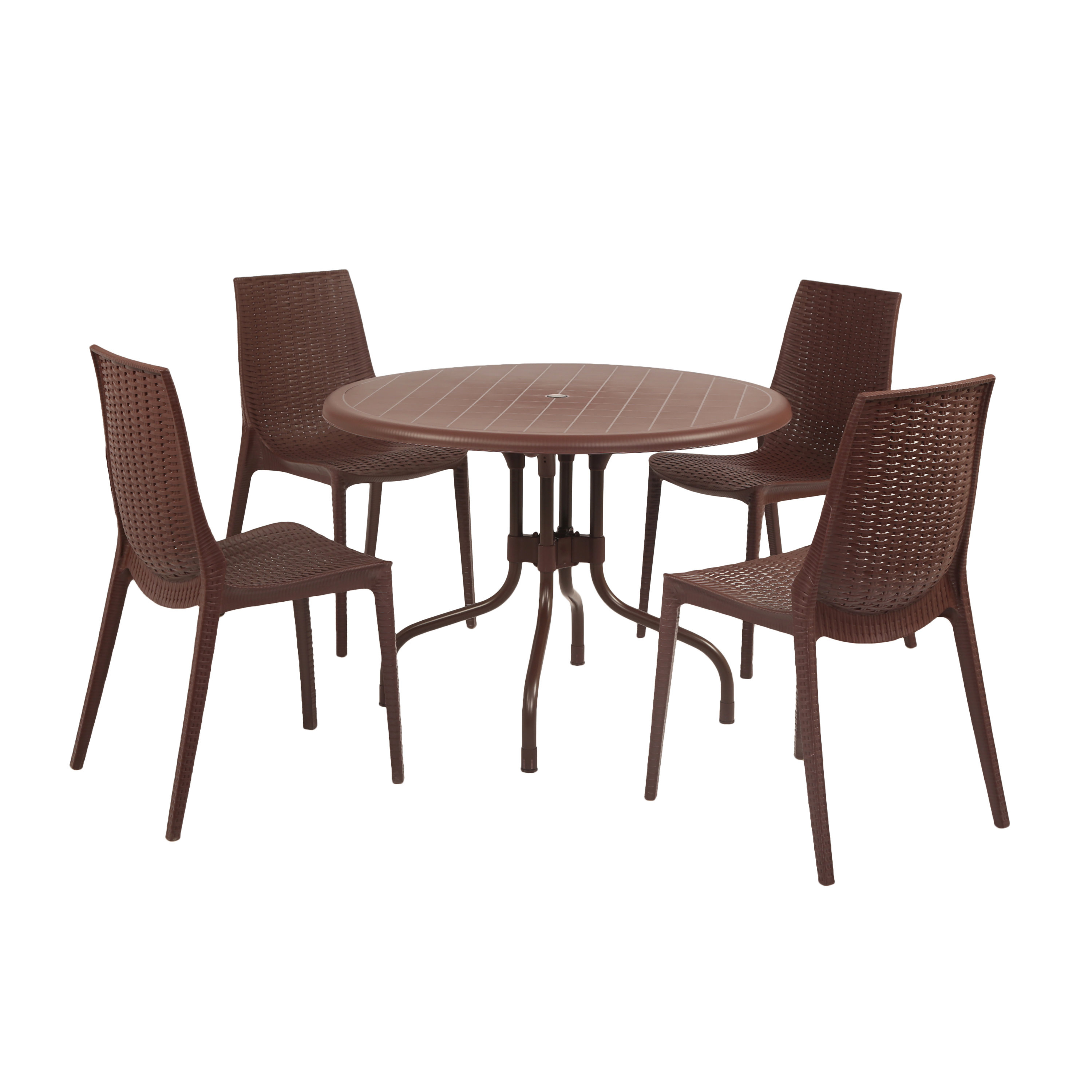 Miskell Commercial Grade 5 Piece Dining Set With Regard To Most Recently Released Miskell 3 Piece Dining Sets (Image 14 of 20)