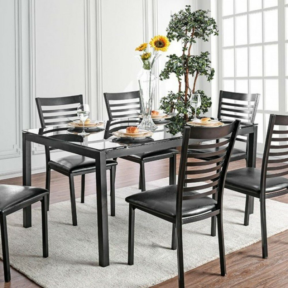 Mitchell Contemporary 5 Piece Solid Wood Dining Set Throughout Most Popular Mukai 5 Piece Dining Sets (View 10 of 20)
