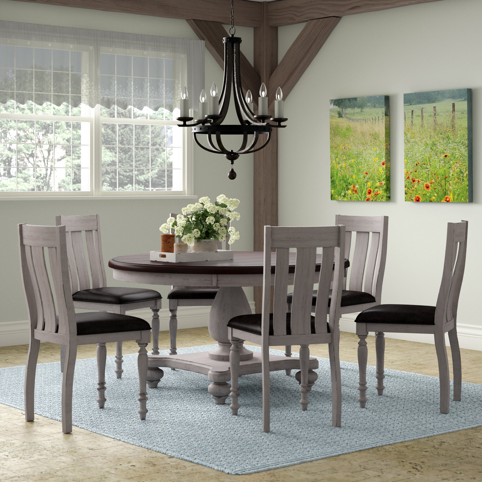 Mixon 7 Piece Solid Wood Dining Set Throughout Most Up To Date Queener 5 Piece Dining Sets (Photo 5 of 20)