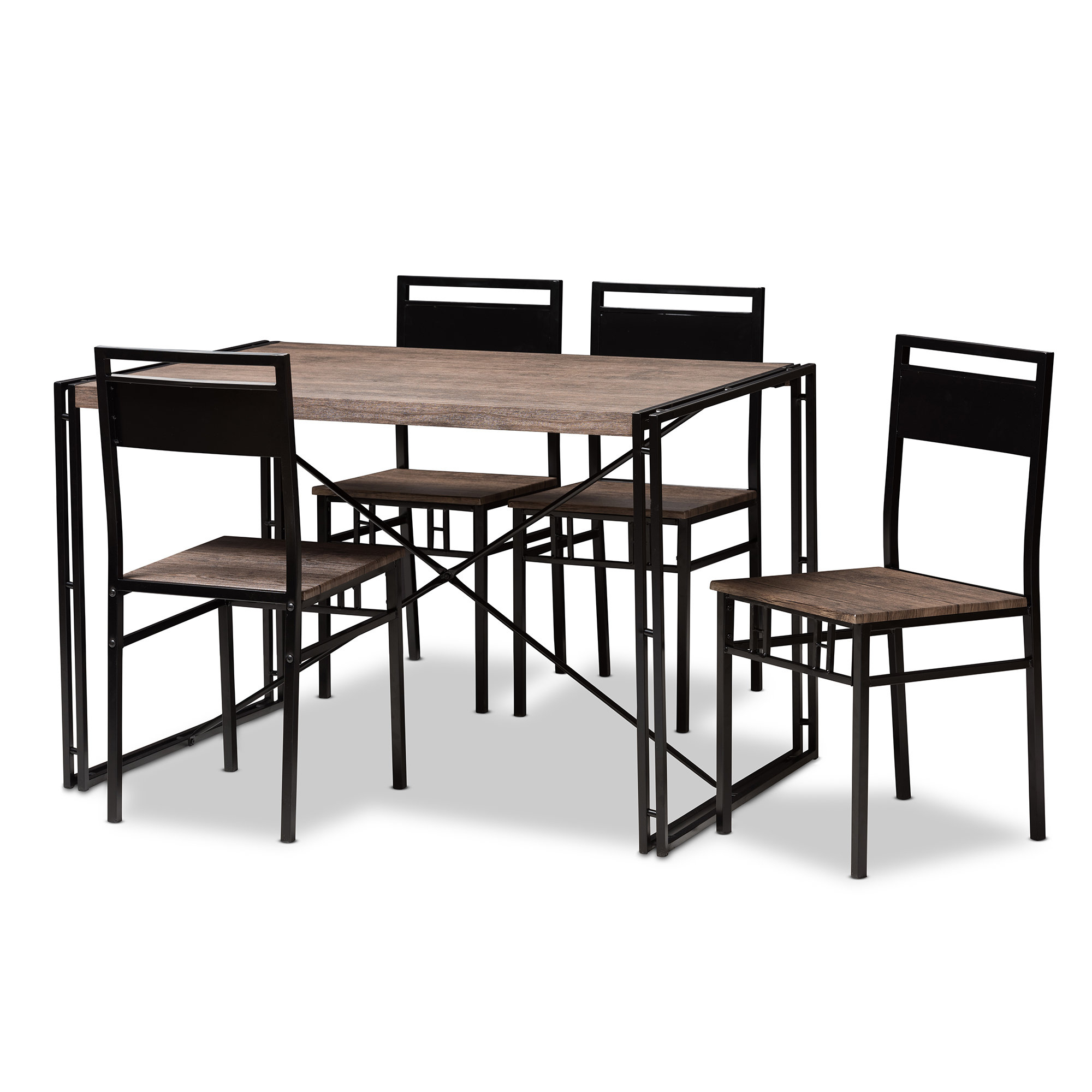 Mizell 5 Piece Dining Set Within Best And Newest Ganya 5 Piece Dining Sets (Photo 5 of 20)