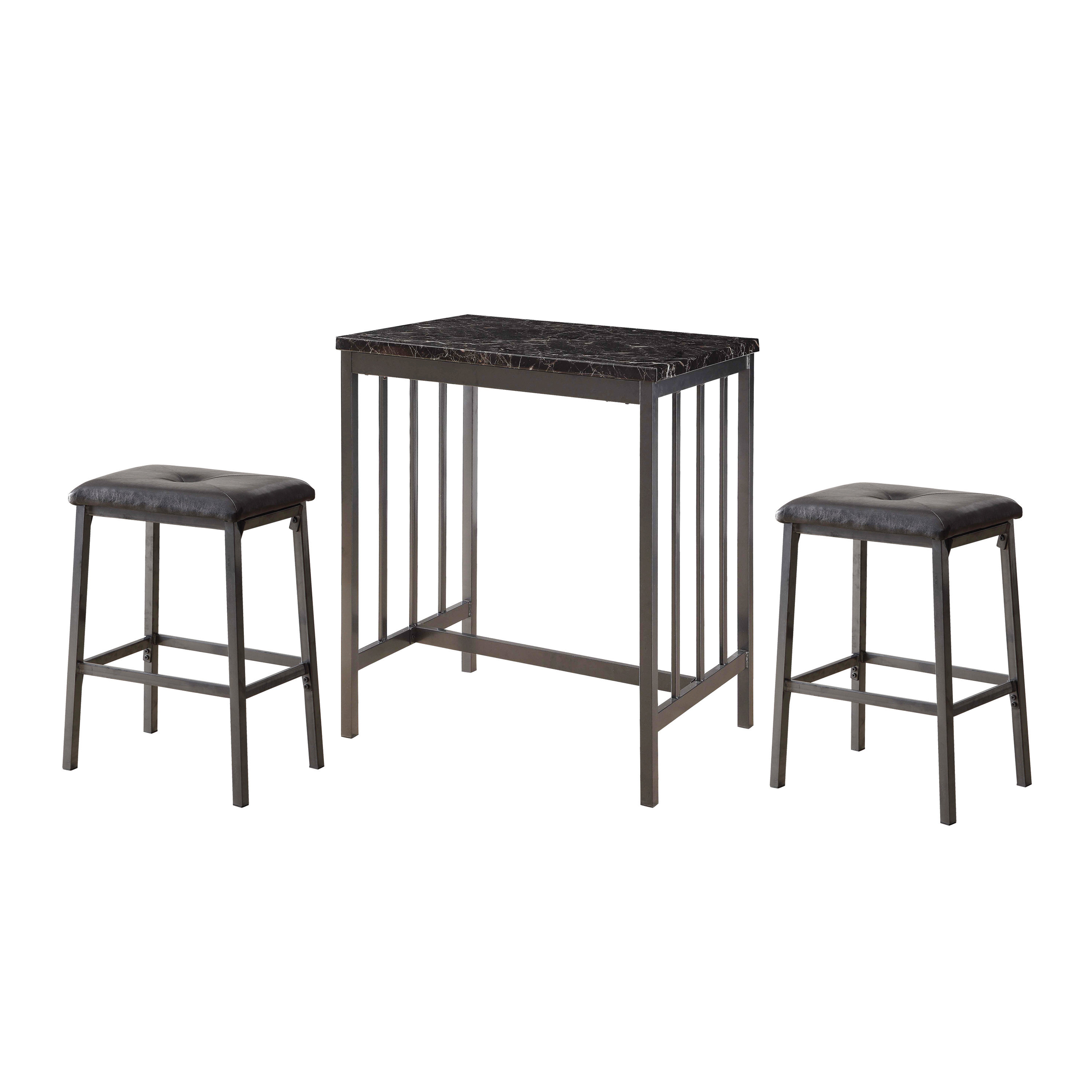 Featured Image of Mizpah 3 Piece Counter Height Dining Sets