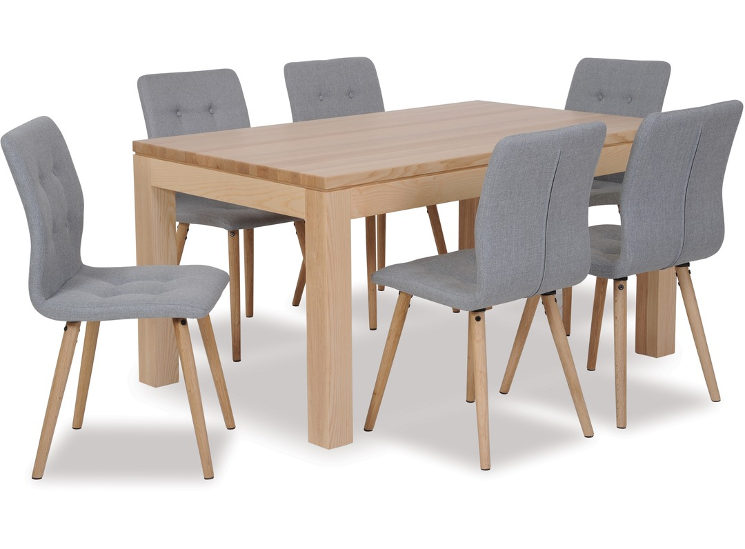Modena Dining Table & Frida Chairs X 6 With Latest Frida 3 Piece Dining Table Sets (View 9 of 20)