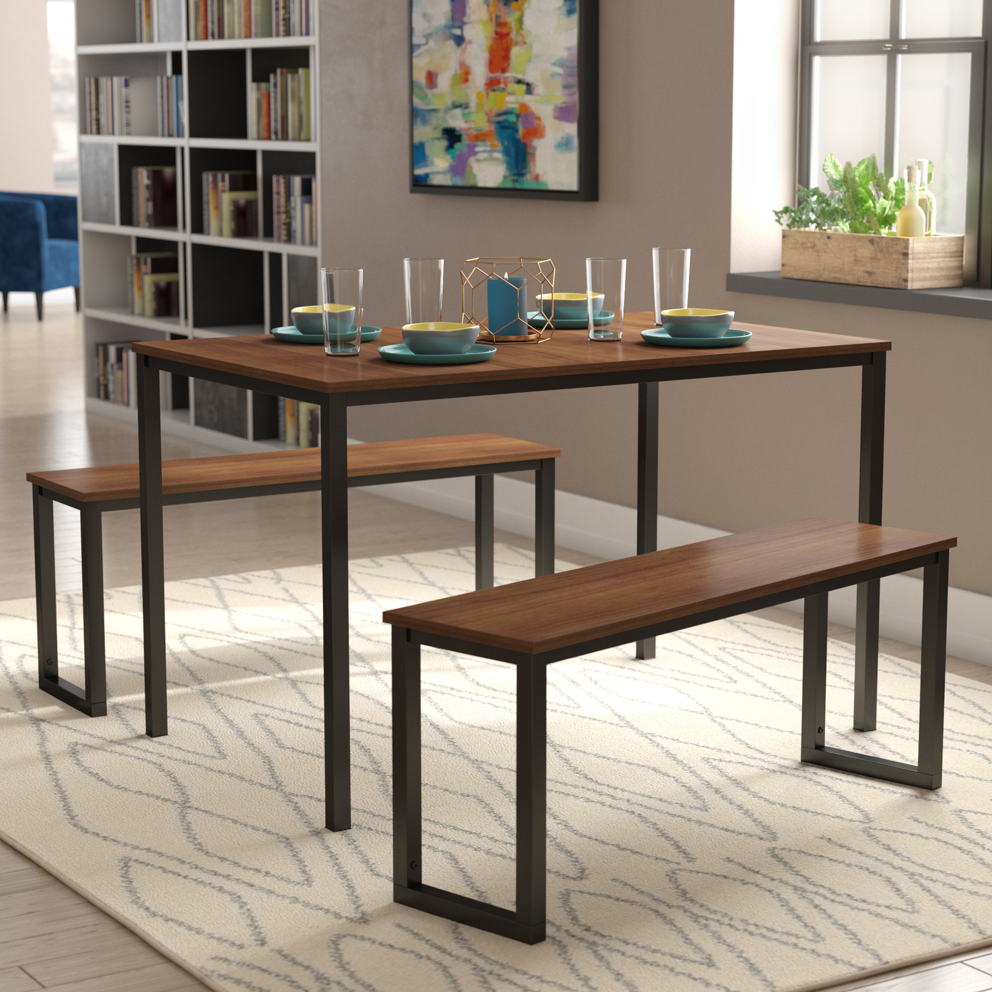 Modern Rustic Interiors Frida 3 Piece Dining Table Set Pertaining To Most Up To Date Shepparton Vintage 3 Piece Dining Sets (Photo 6 of 20)