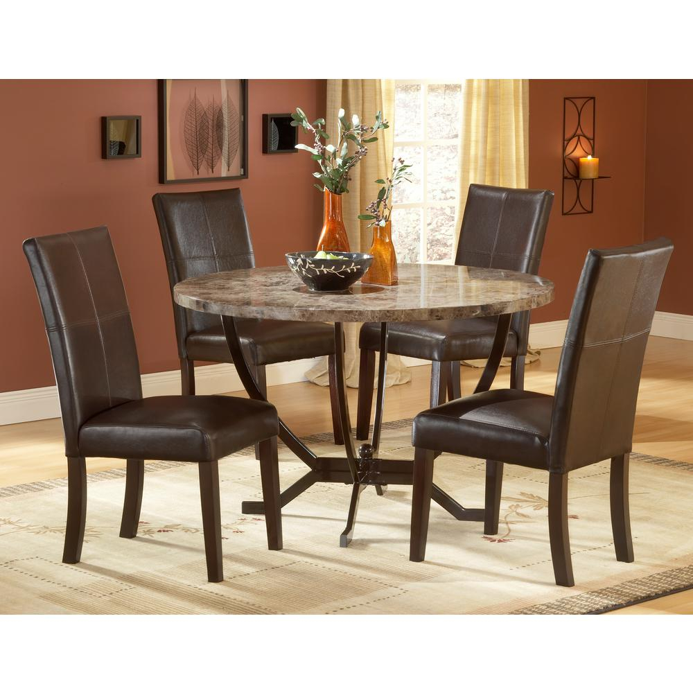 Monaco 5 Piece Matte Espresso Dining Set Throughout Most Popular 5 Piece Dining Sets (View 15 of 20)