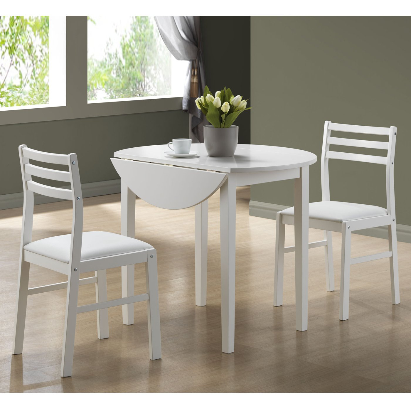 Monarch Specialties 3 Piece Dining Table Set With Regard To Most Recent 3 Piece Dining Sets (View 17 of 20)