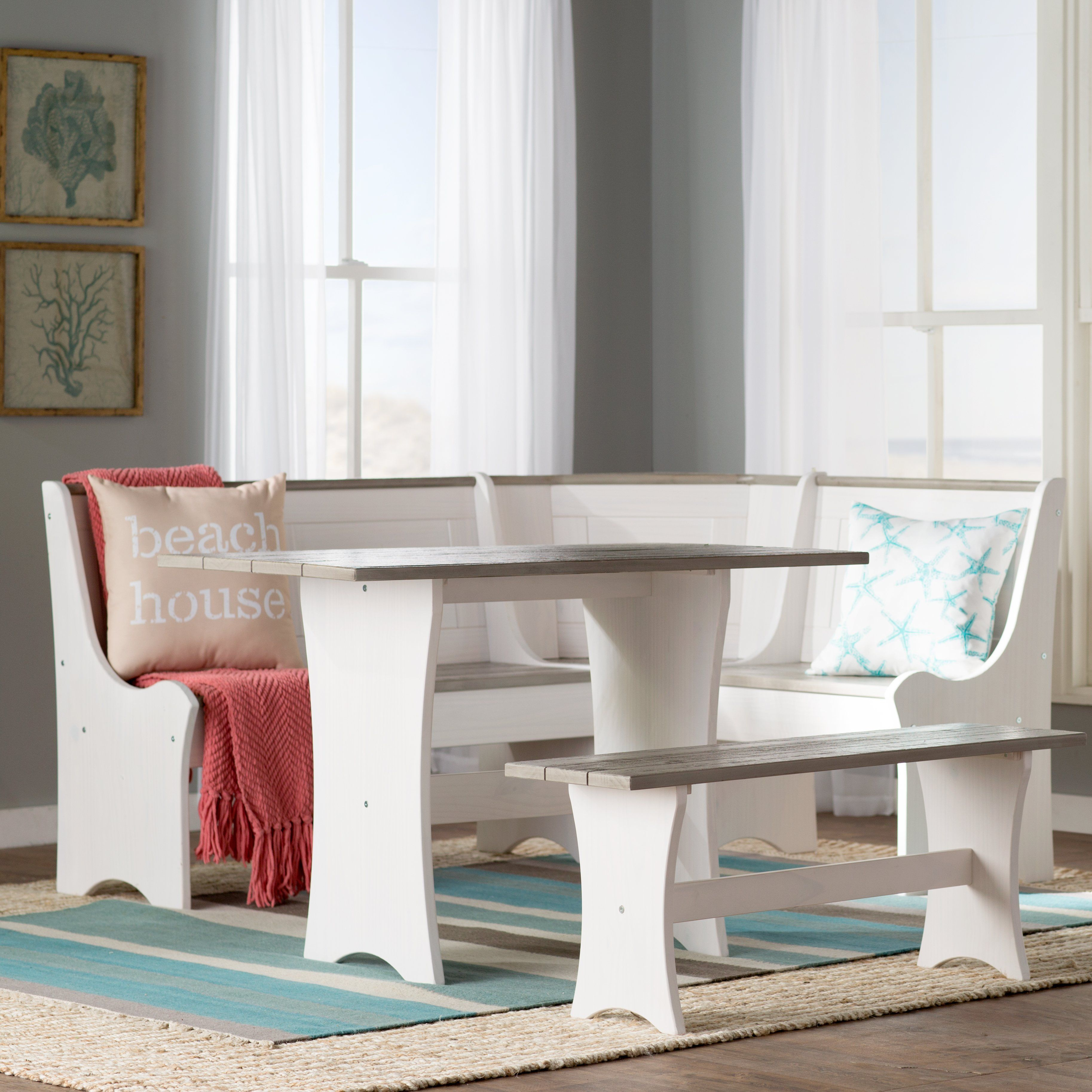 Monroe 3 Piece Nook Dining Set In 2019 | Kitchen | Breakfast Nook Pertaining To Newest 3 Piece Breakfast Nook Dinning Set (View 17 of 20)
