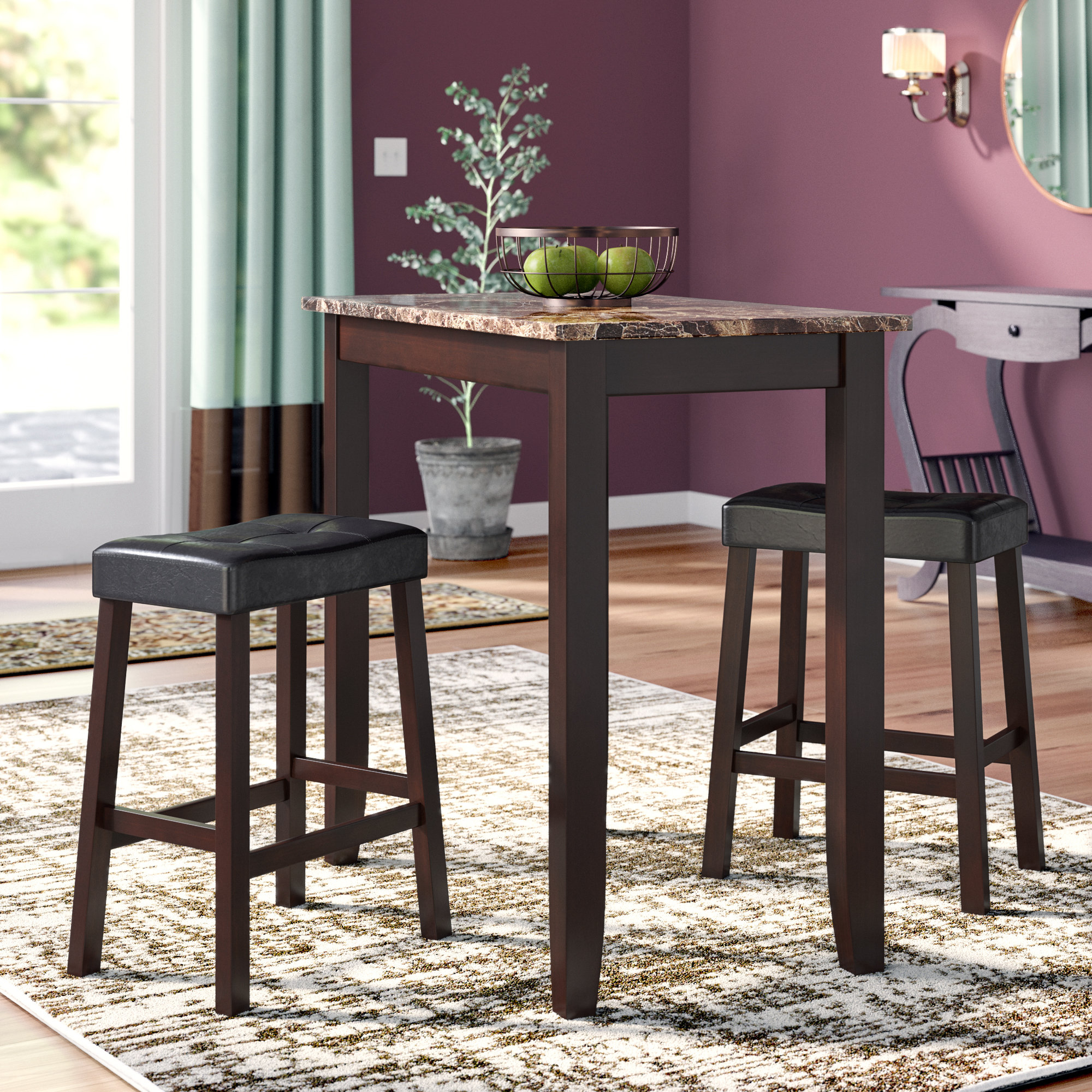 Morano 3 Piece Pub Table Set Within Recent Hood Canal 3 Piece Dining Sets (Image 12 of 20)