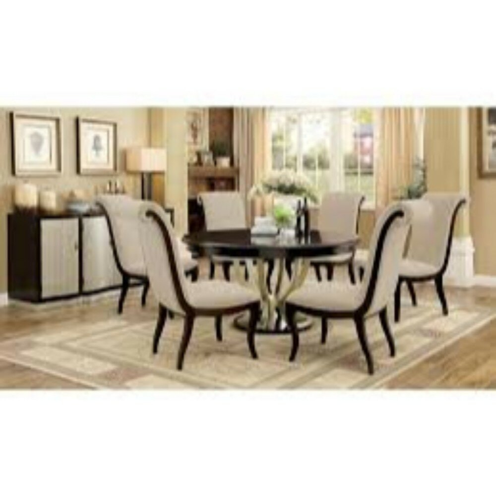 Moreno Contemporary 7 Piece Extendable Solid Wood Dining Set Inside Recent Laconia 7 Pieces Solid Wood Dining Sets (Set Of 7) (View 13 of 20)