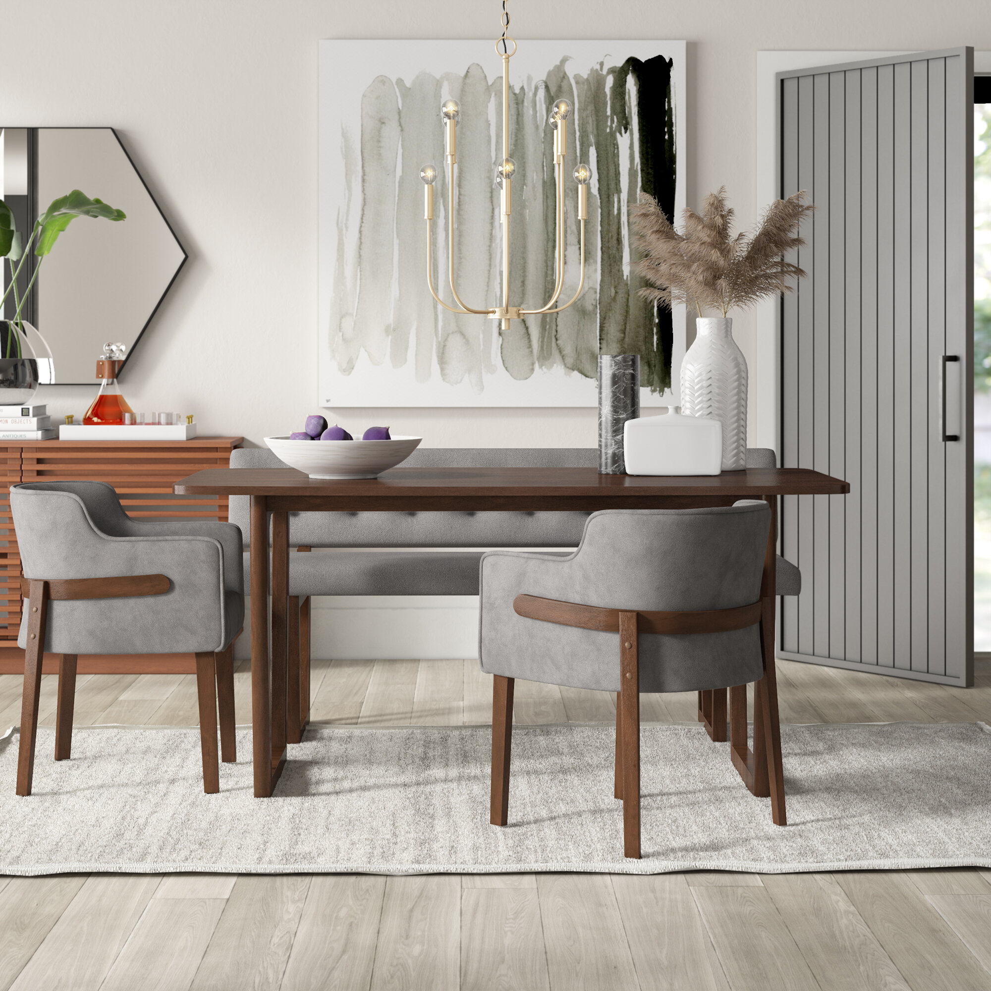 Mukai 4 Piece Dining Set For Most Current Mukai 5 Piece Dining Sets (View 3 of 20)