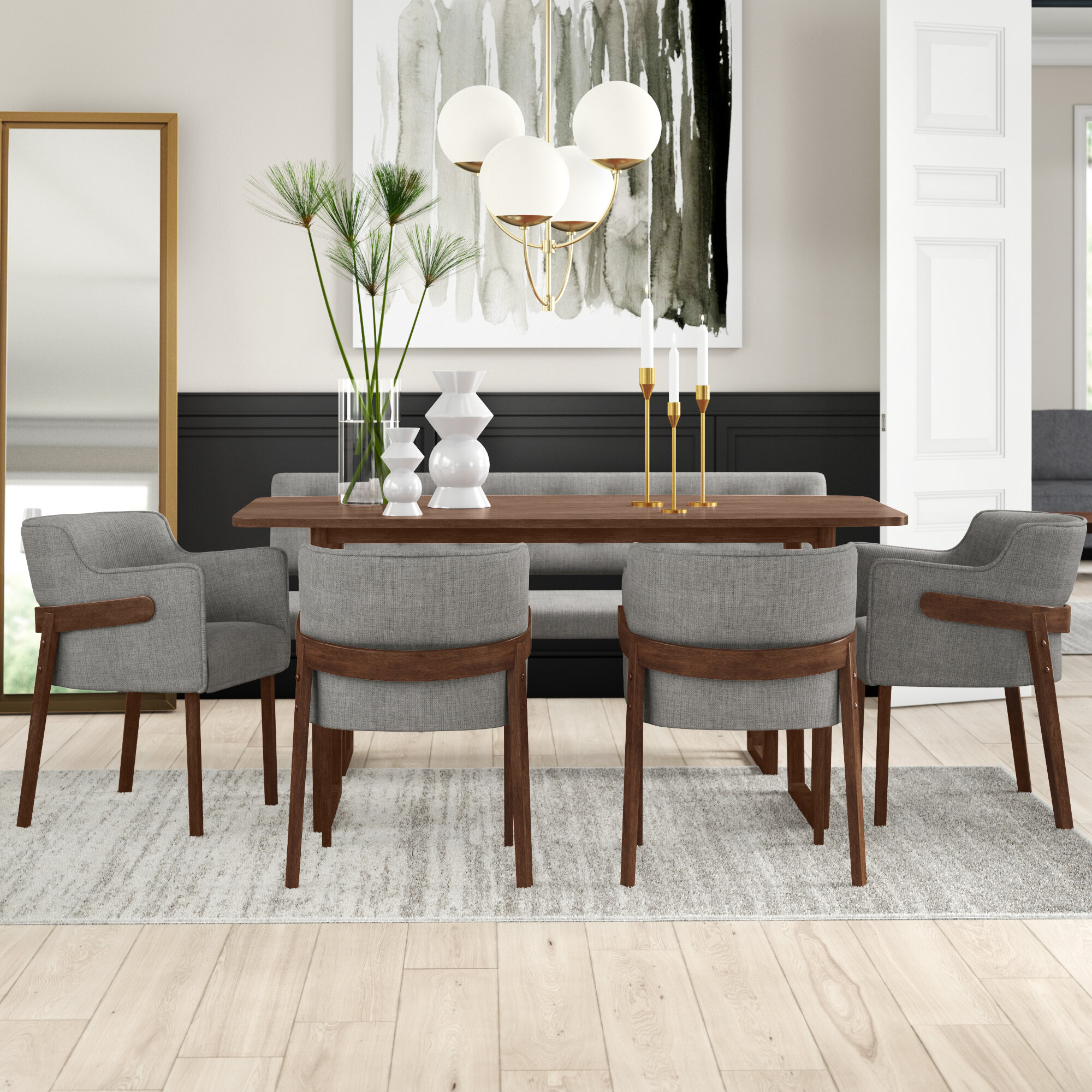 Mukai 6 Piece Dining Set Pertaining To Best And Newest Mukai 5 Piece Dining Sets (Photo 2 of 20)