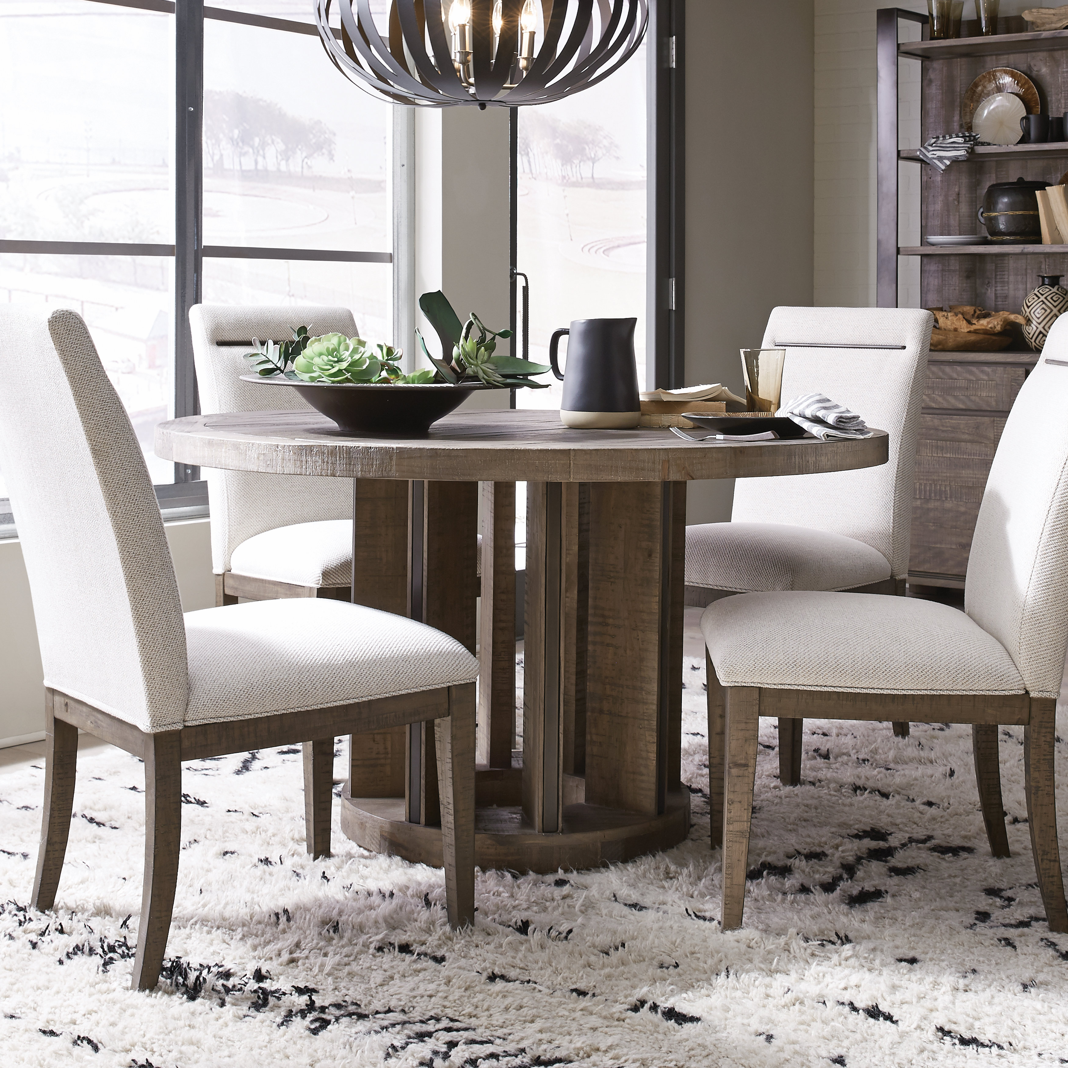 Norah 5 Piece Solid Wood Dining Set Pertaining To Most Current Sundberg 5 Piece Solid Wood Dining Sets (Image 8 of 20)