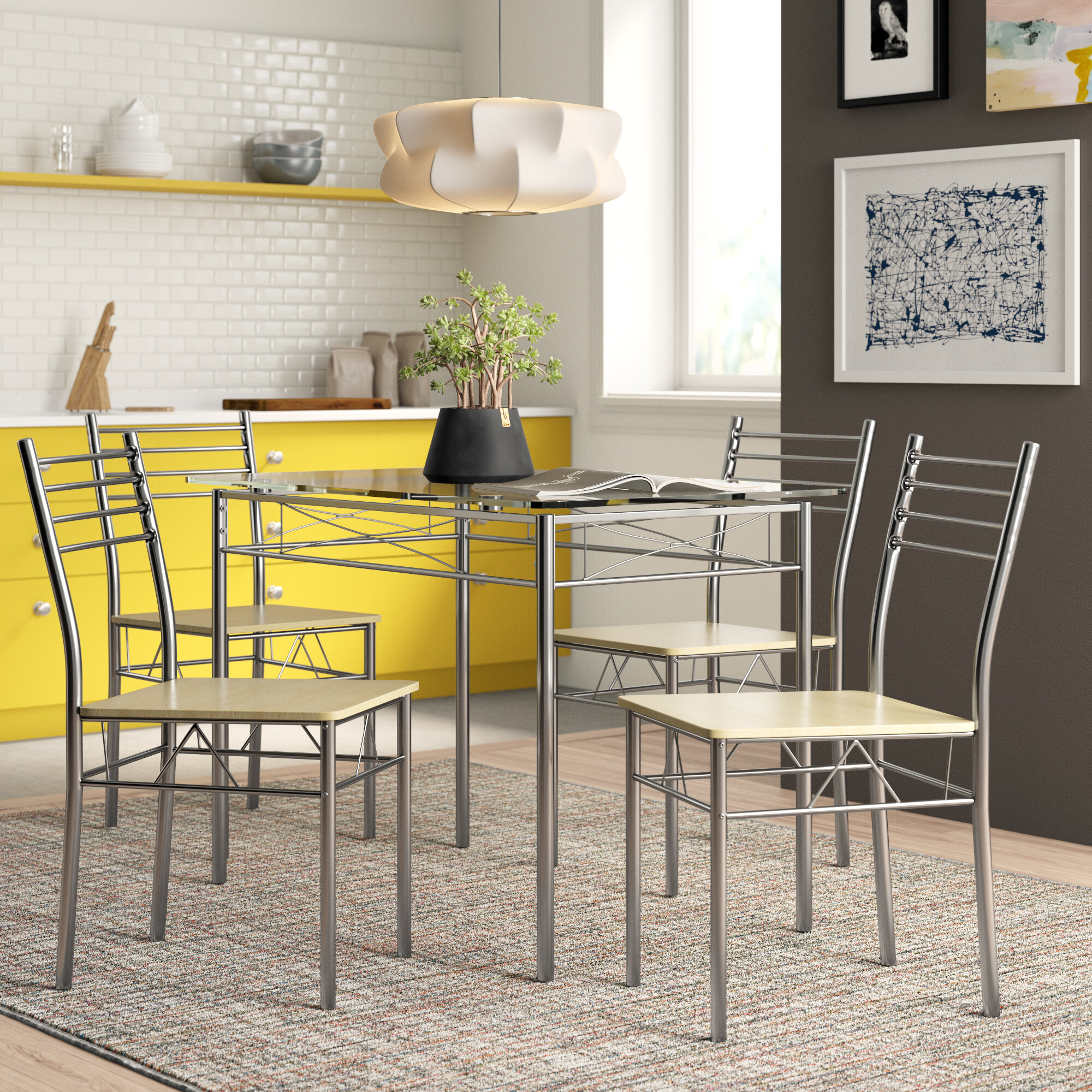 North Reading 5 Piece Dining Table Set Regarding Most Current Kieffer 5 Piece Dining Sets (View 11 of 20)