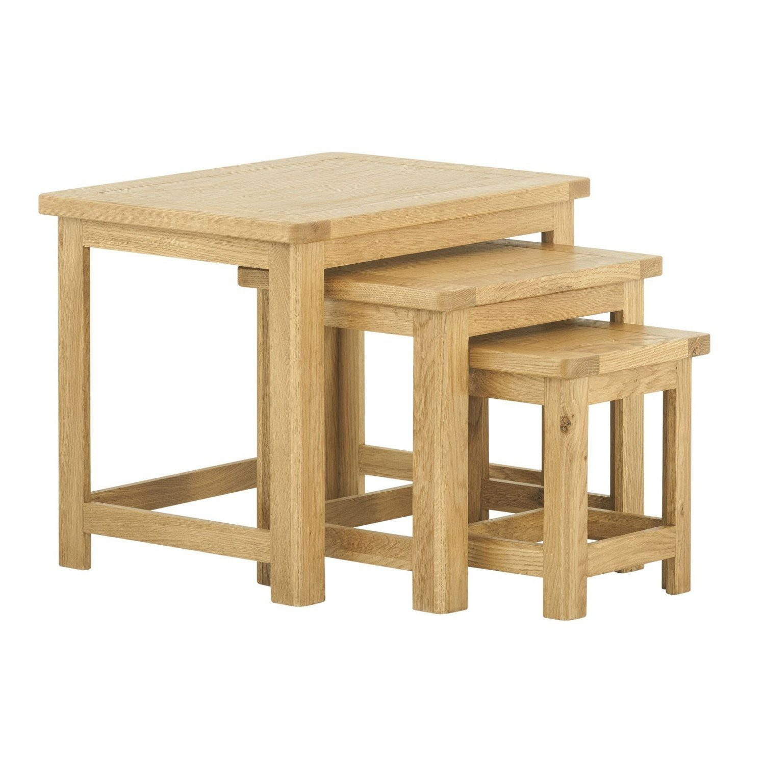 Northwood Nest Of Tables In Oak Pertaining To Newest Northwoods 3 Piece Dining Sets (Image 13 of 20)