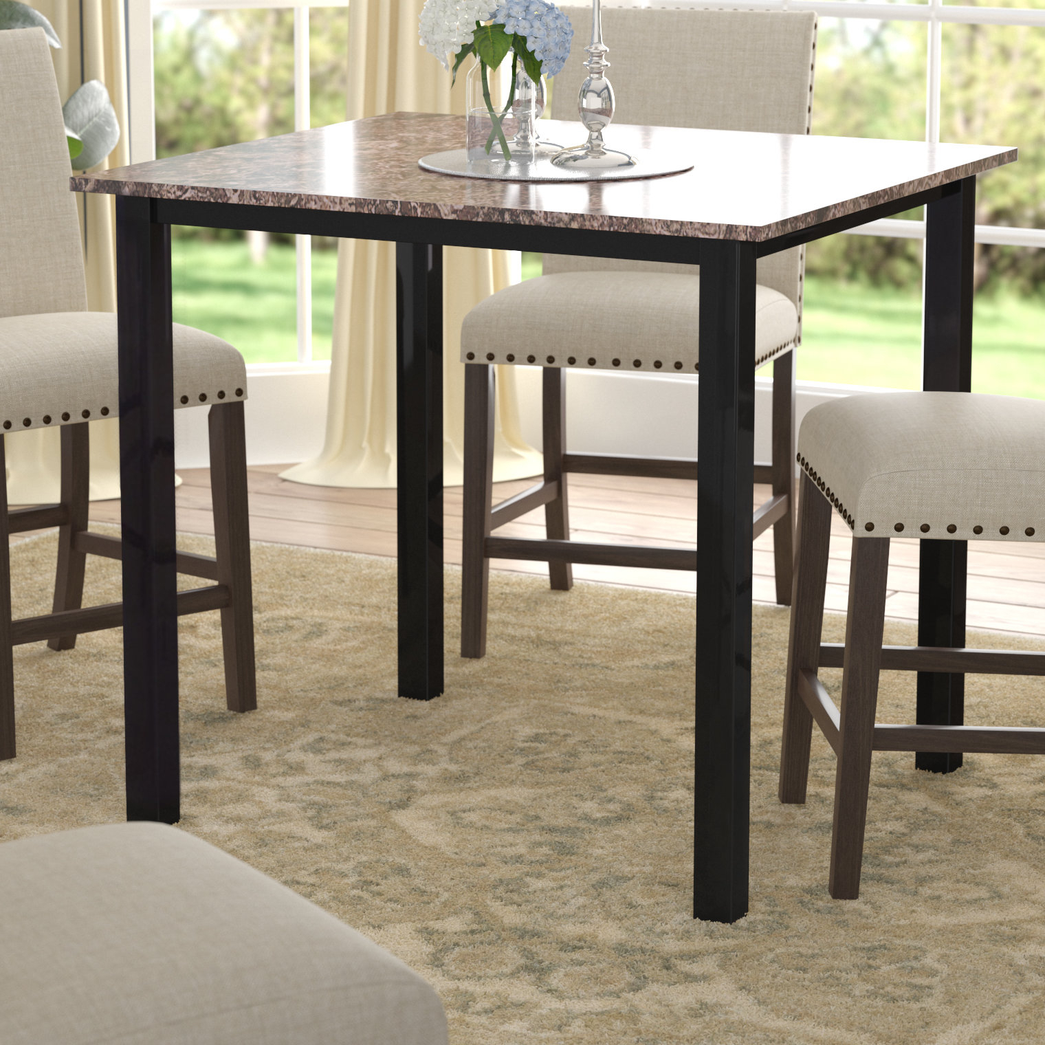 Noyes Counter Height Dining Table Throughout Most Popular Noyes 5 Piece Dining Sets (View 6 of 20)