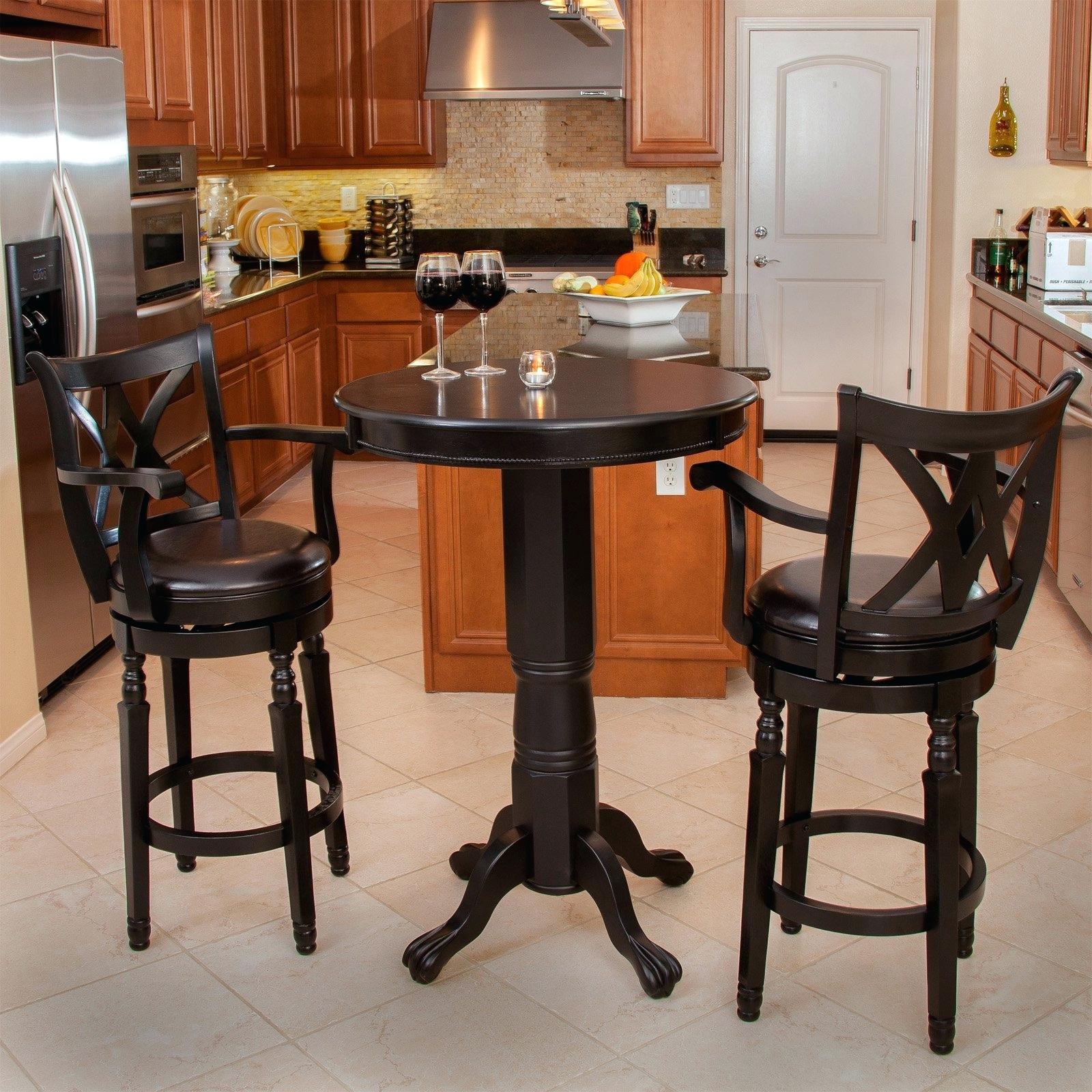 Oak Pub Tables Sets – Table Design Ideas Intended For 2017 Autberry 5 Piece Dining Sets (Image 15 of 20)
