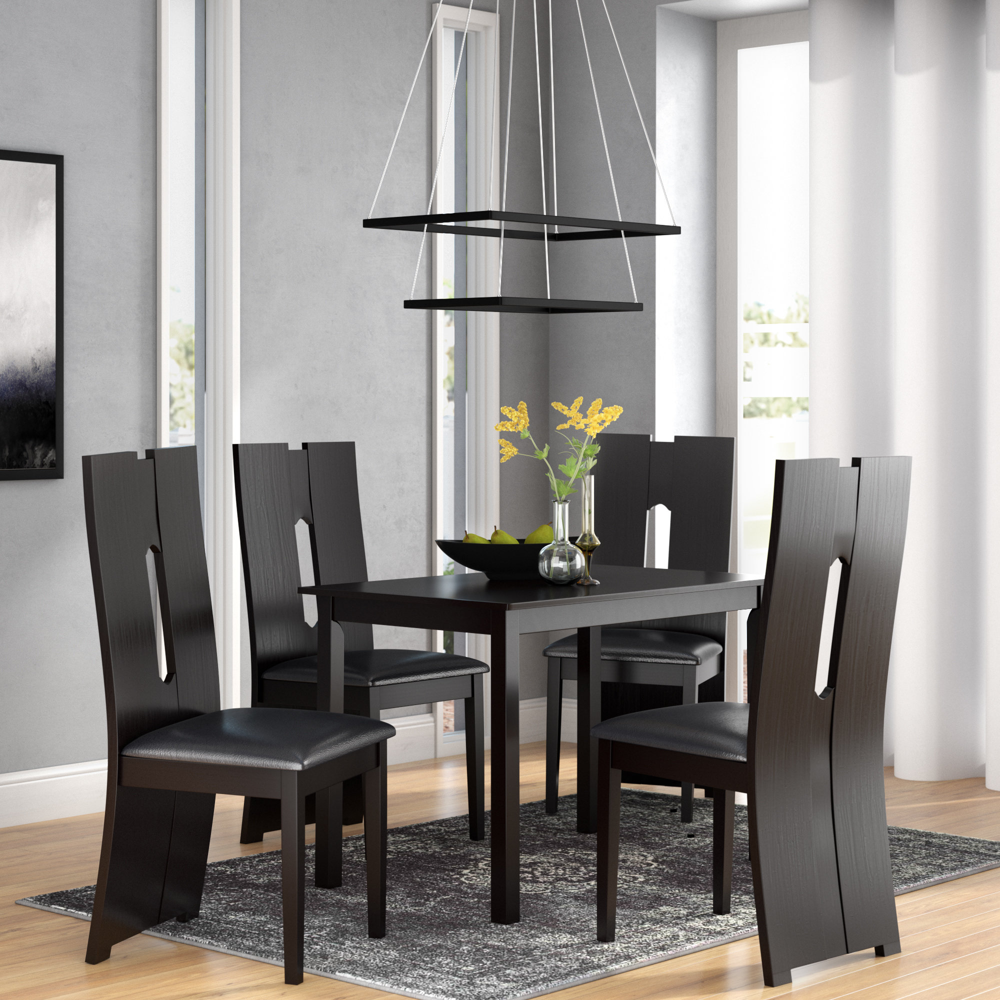 Onsted Modern And Contemporary 5 Piece Breakfast Nook Dining Set Intended For Most Up To Date 5 Piece Breakfast Nook Dining Sets (View 7 of 20)