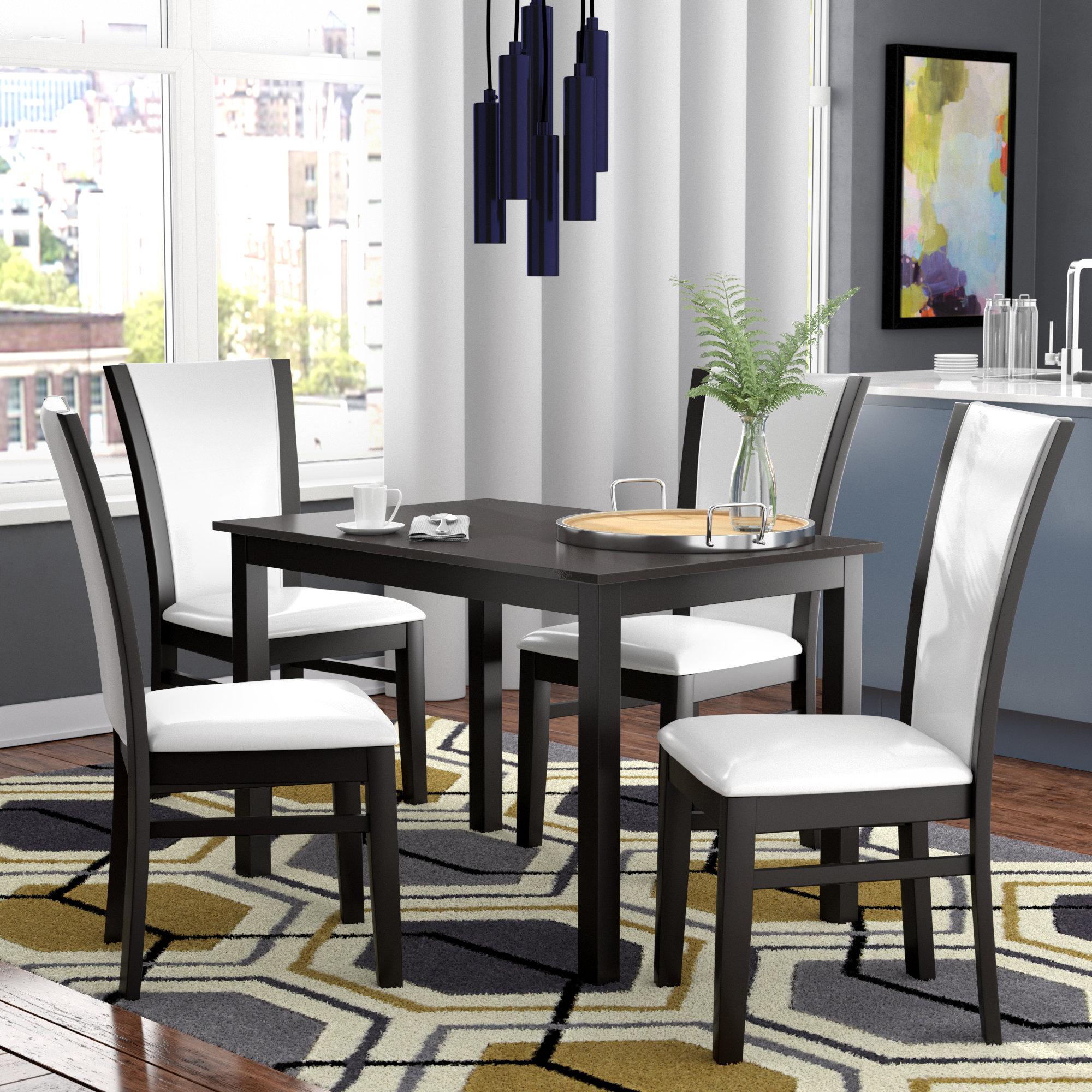 Ontonagon Modern And Contemporary 5 Piece Breakfast Nook Dining Set Within Newest 5 Piece Breakfast Nook Dining Sets (View 2 of 20)
