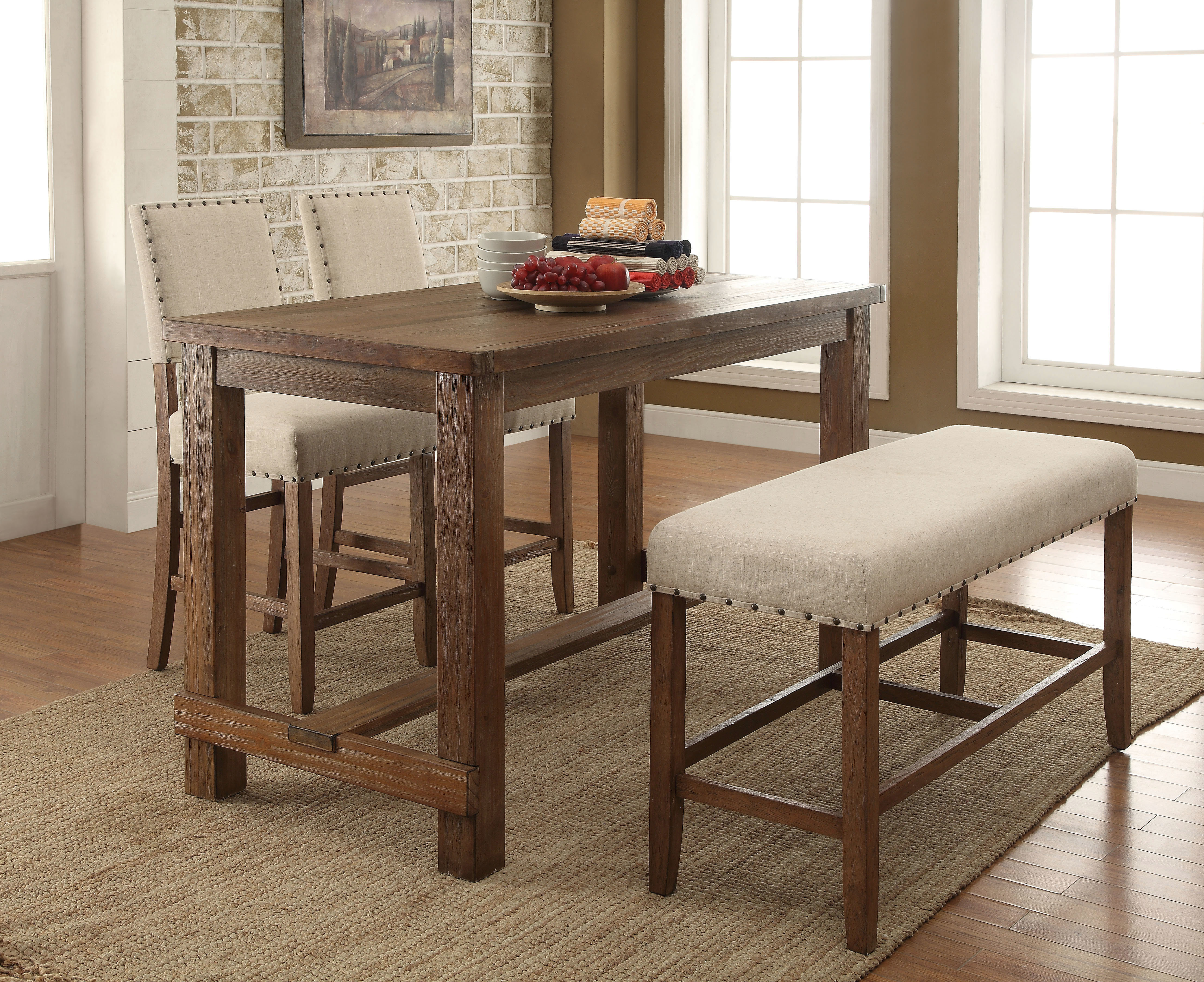 Orth 4 Piece Dining Set Regarding 2017 Queener 5 Piece Dining Sets (View 2 of 20)