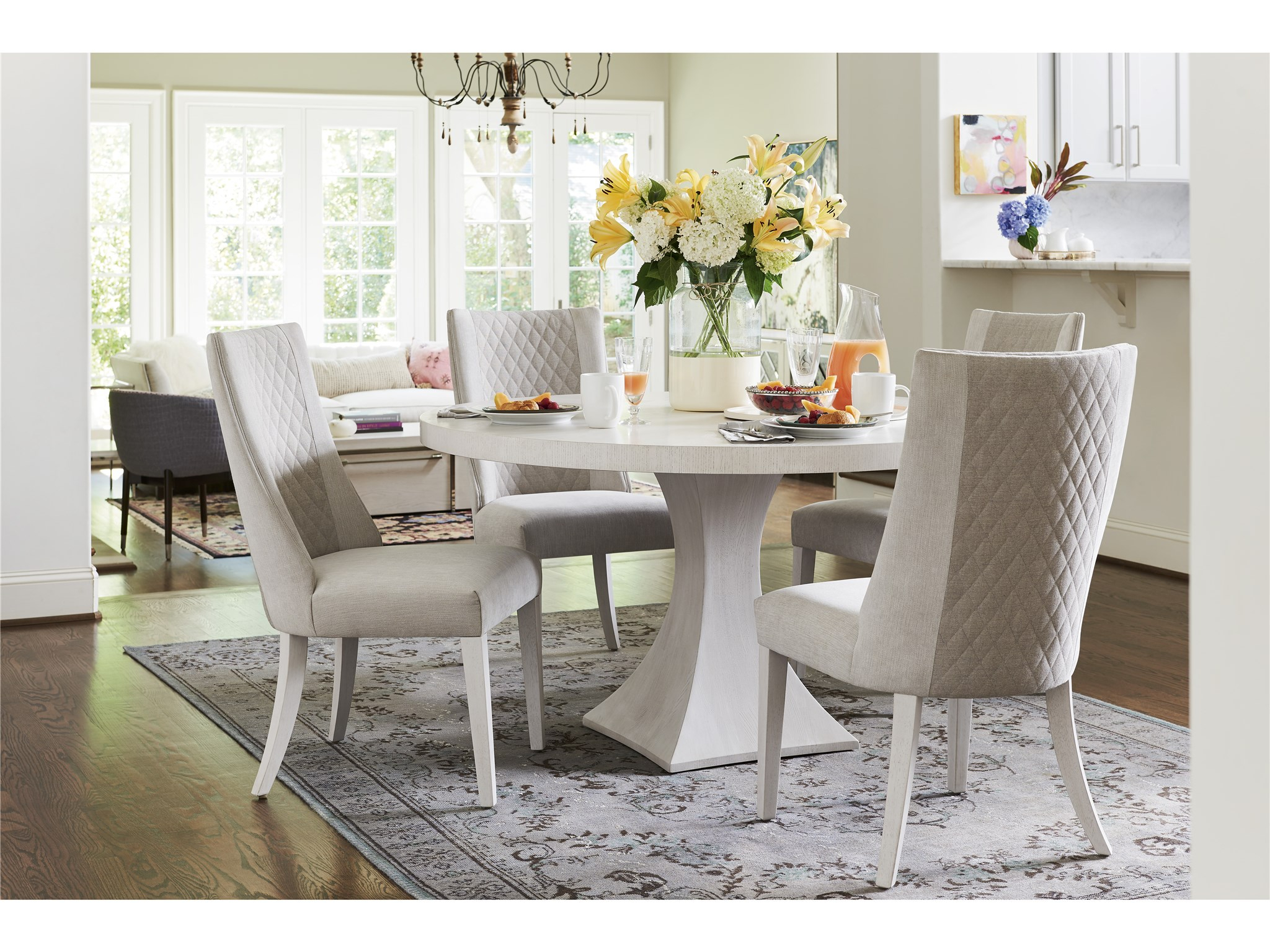 Paradox Integrity Dining Table | Universal Furniture With Most Recent Giles 3 Piece Dining Sets (View 2 of 20)