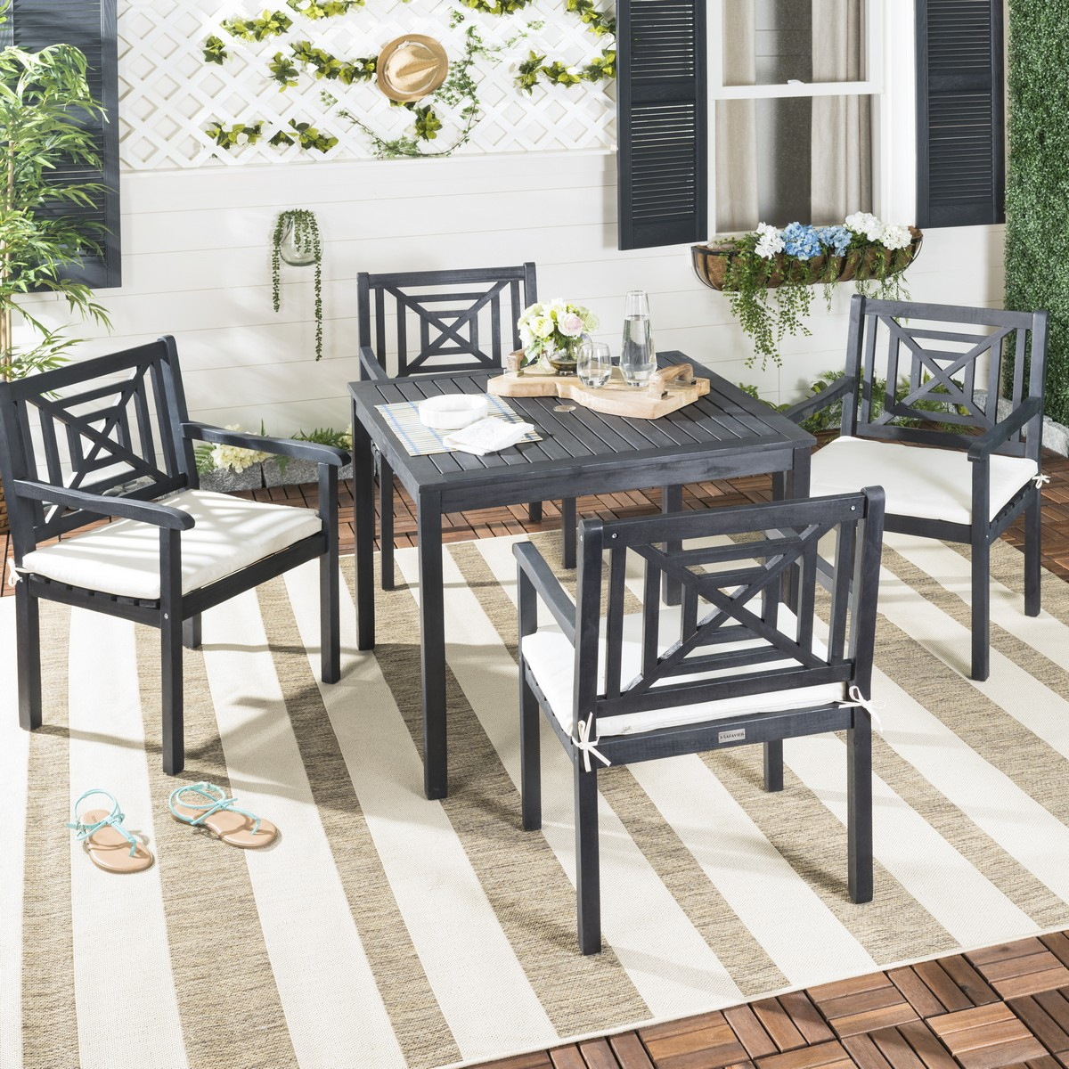 Pat6722K Patio Sets – 5 Piece Outdoor Dining Sets – Furniture Intended For Most Current Delmar 5 Piece Dining Sets (View 13 of 20)