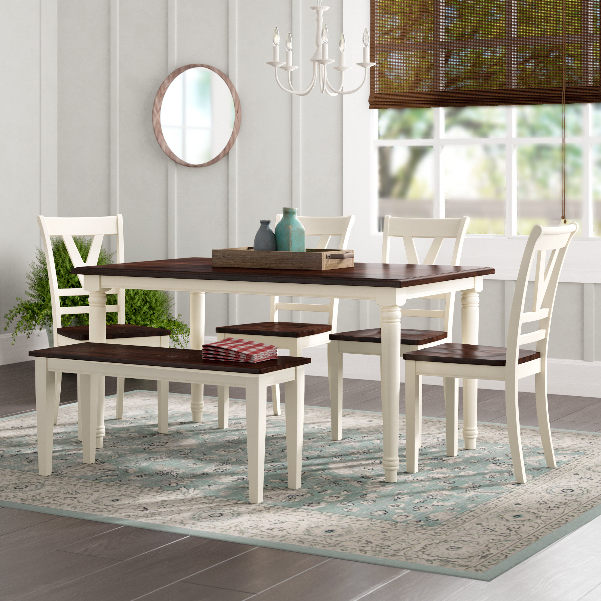 Patridge 6 Piece Solid Wood Dining Set Inside Most Up To Date Yedinak 5 Piece Solid Wood Dining Sets (Photo 8 of 20)