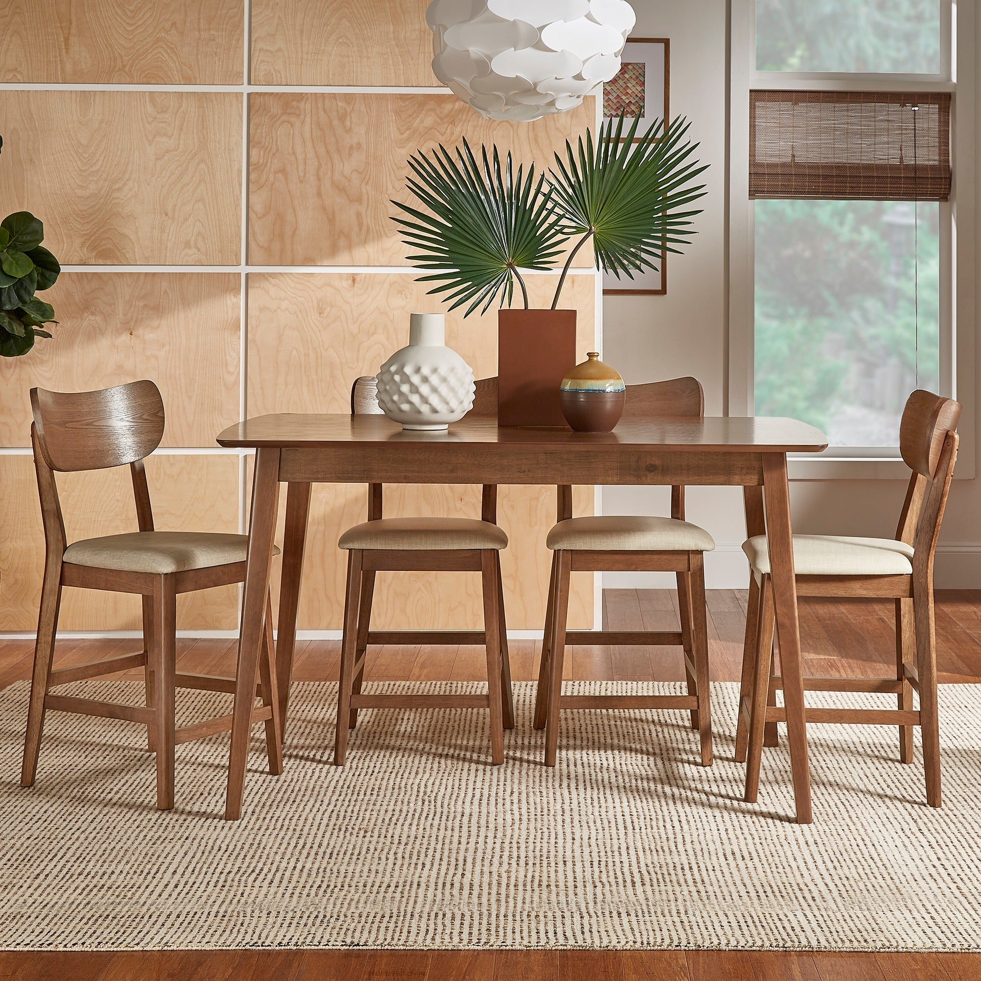 Penelope Danish Modern Tapered Leg Counter Height Chair (Set Of 2) Inspire Q Modern Pertaining To Latest Penelope 3 Piece Counter Height Wood Dining Sets (View 5 of 20)