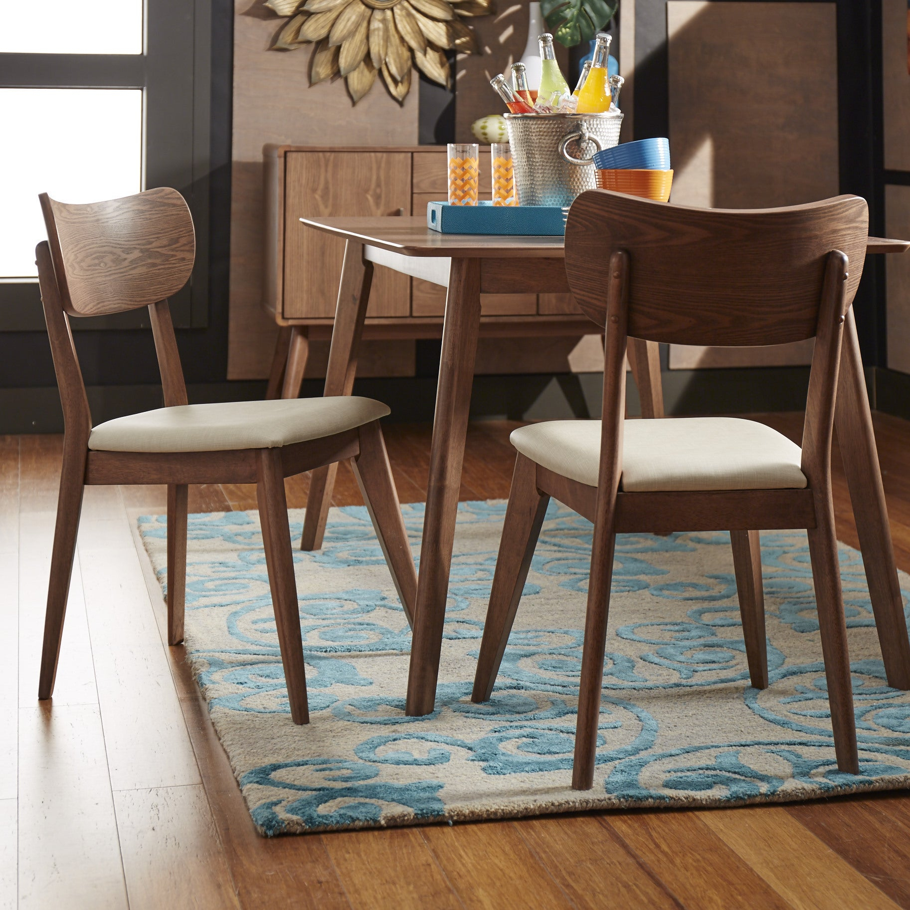 Penelope Danish Modern Walnut Dining Setinspire Q Modern Intended For Current Penelope 3 Piece Counter Height Wood Dining Sets (View 17 of 20)