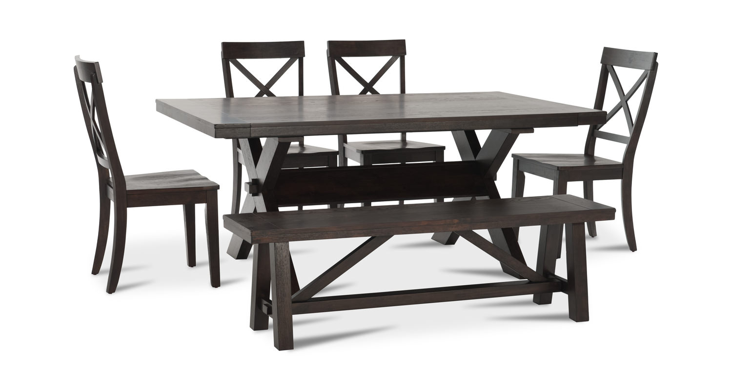 Picardy Table With 4 Chairs And Dining Bench Within Most Recently Released Anette 3 Piece Counter Height Dining Sets (View 20 of 20)
