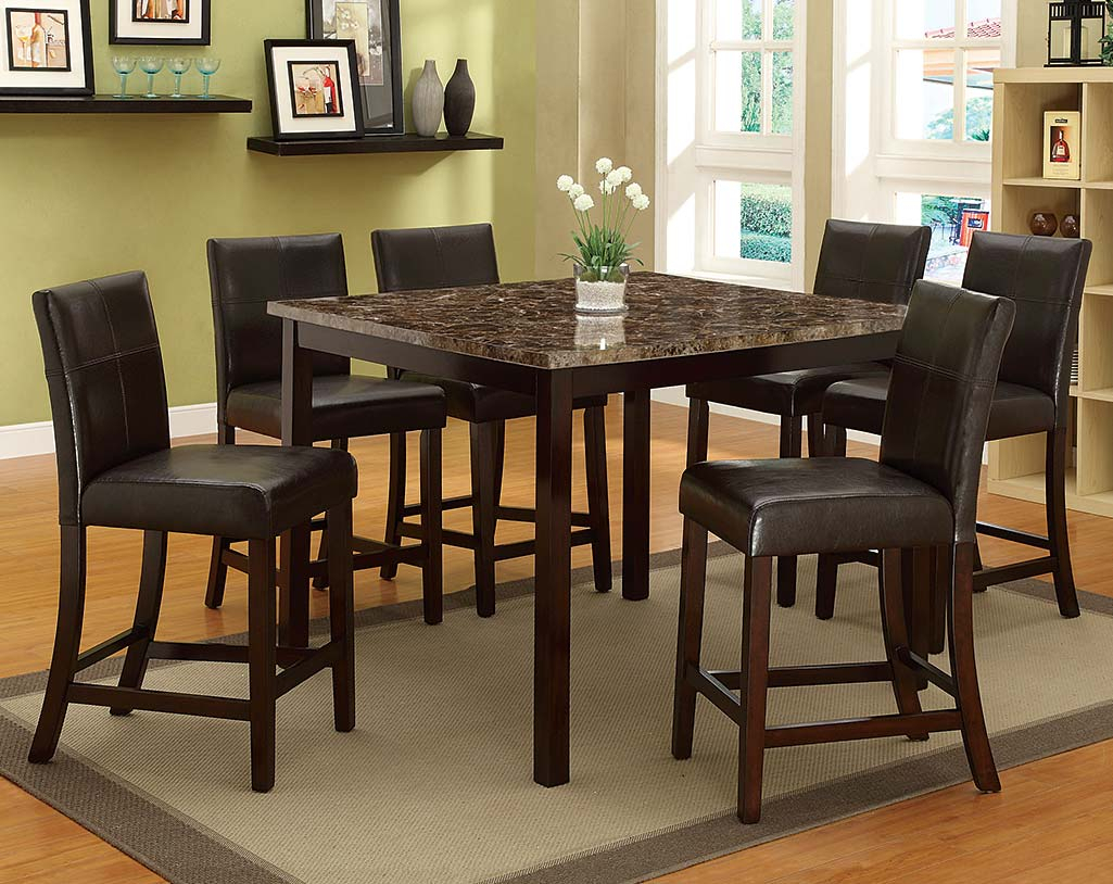 Pompei 5 Piece Counter Height Dining Set Pertaining To Current Cargo 5 Piece Dining Sets (View 13 of 20)