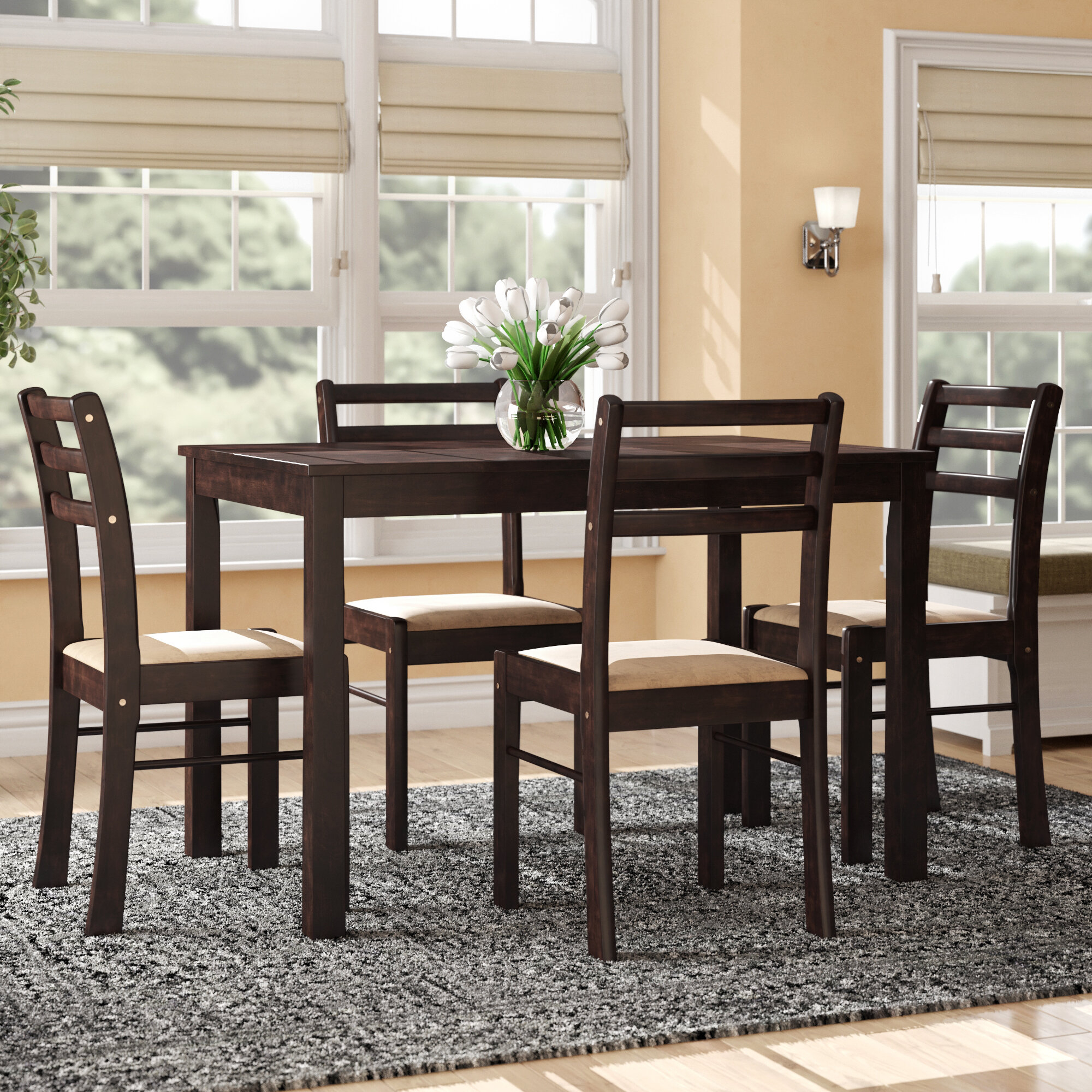 Portal 5 Piece Dining Set Within Newest Autberry 5 Piece Dining Sets (View 13 of 20)