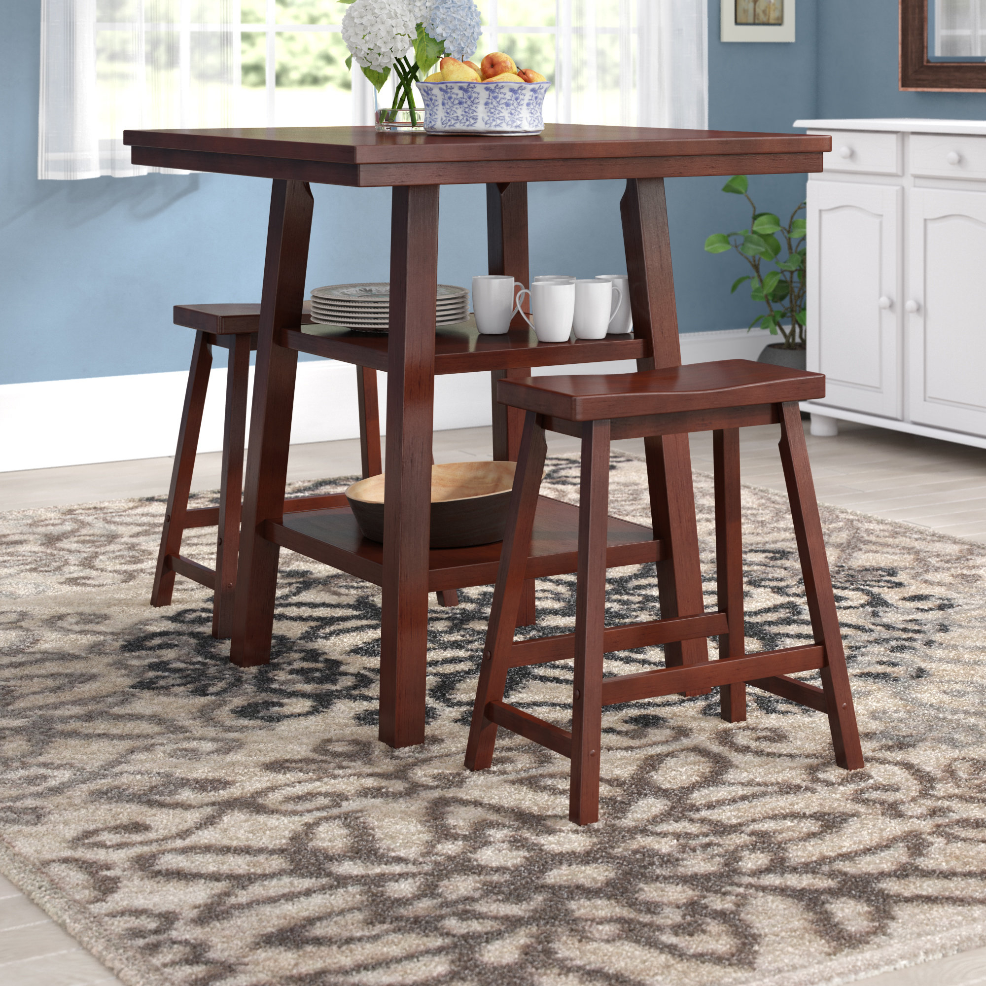 Pratt Street 3 Piece Dining Set Inside Most Recently Released Lonon 3 Piece Dining Sets (View 8 of 20)