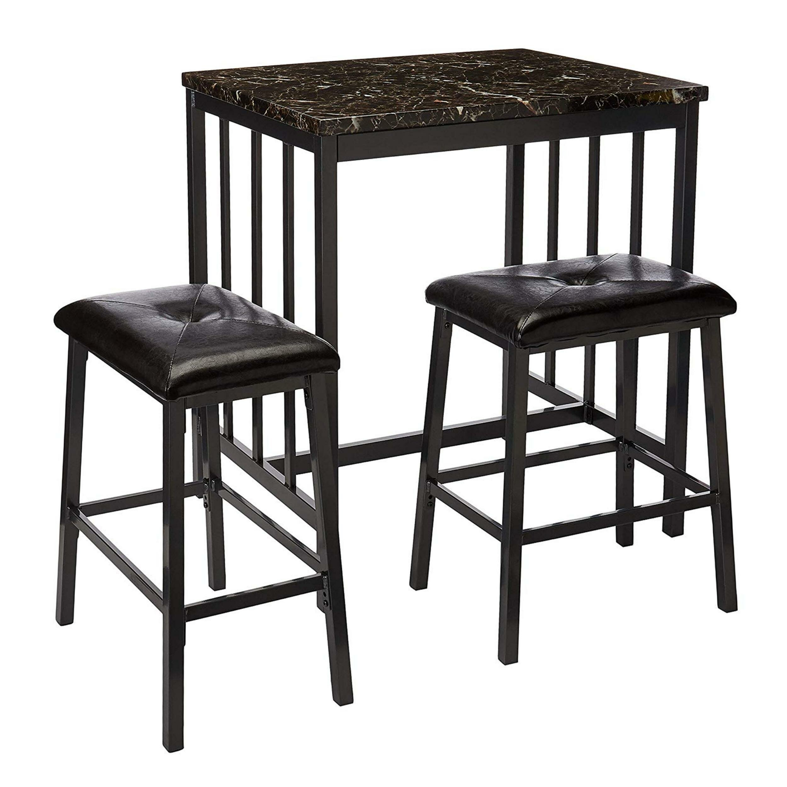 Presson 3 Piece Counter Height Dining Set Throughout 2018 Mizpah 3 Piece Counter Height Dining Sets (Image 17 of 20)