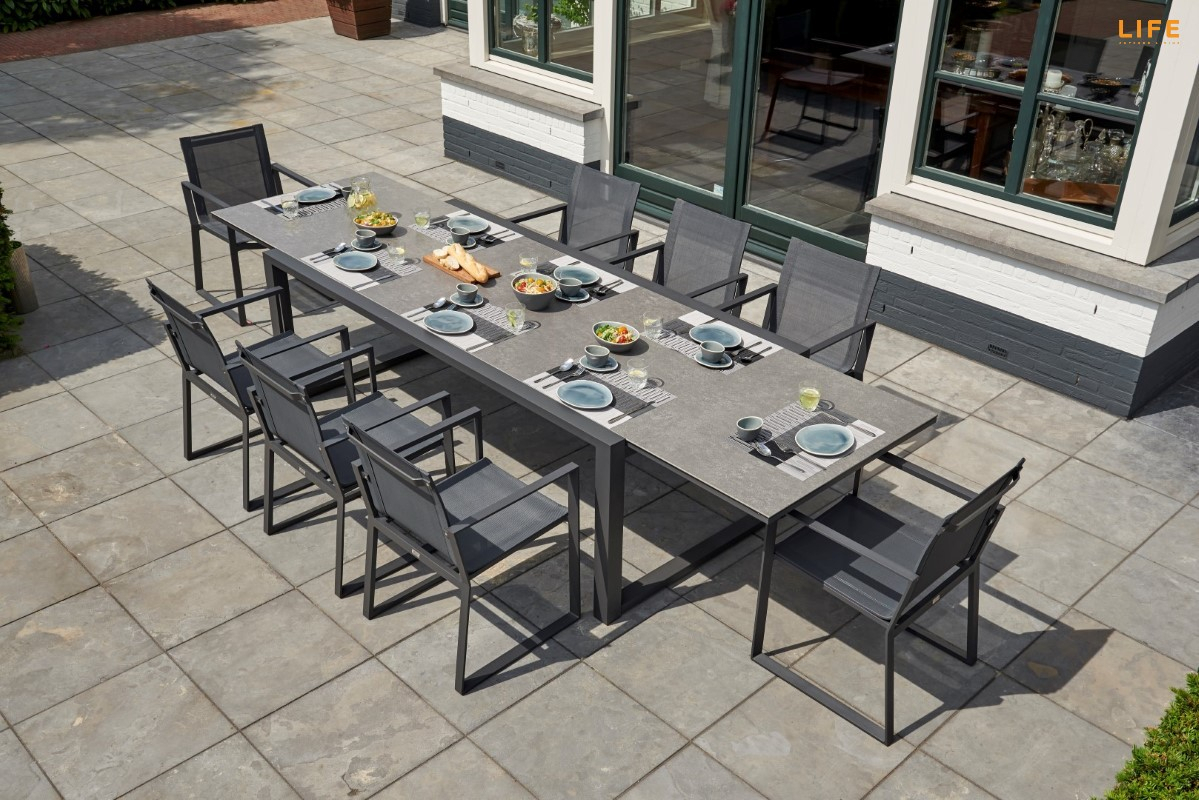 Primavera Dining Extendable Lava – Life Outdoor Living With Regard To Recent Osterman 6 Piece Extendable Dining Sets (Set Of 6) (Photo 9 of 20)