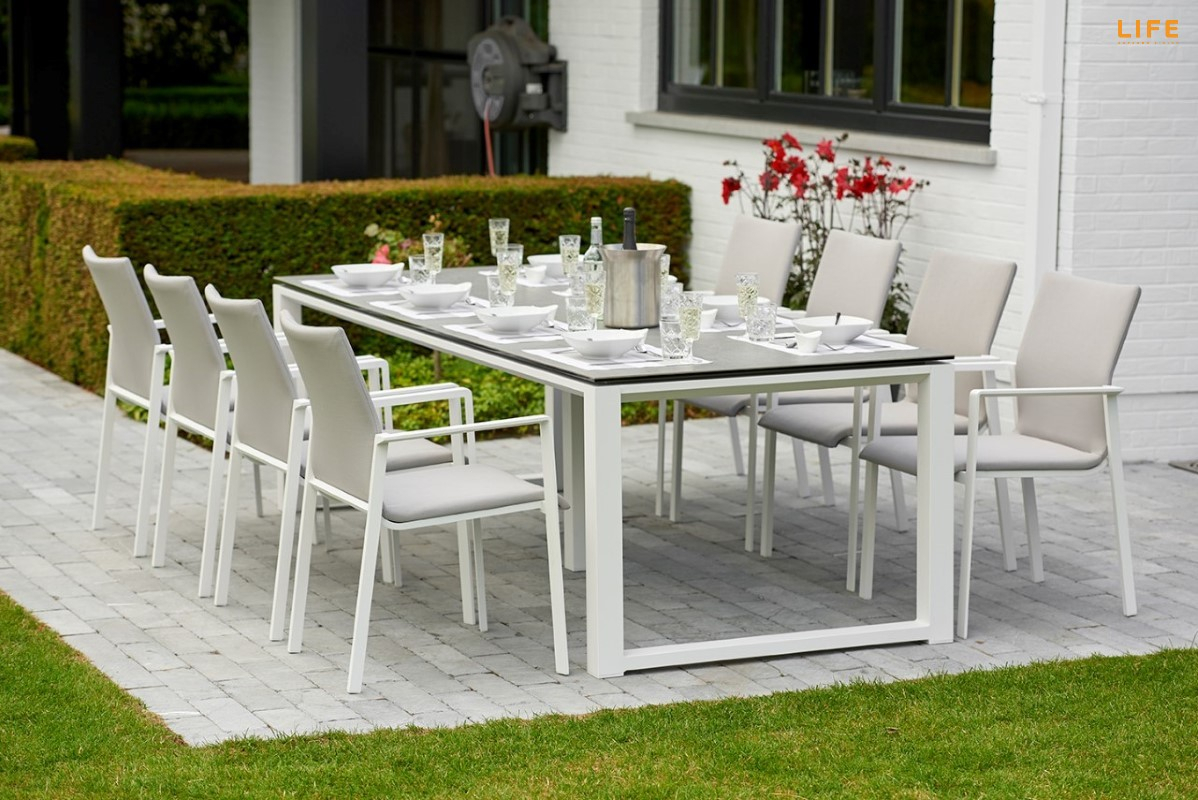 Primavera Dining White – Life Outdoor Living Regarding Latest Osterman 6 Piece Extendable Dining Sets (Set Of 6) (Photo 17 of 20)