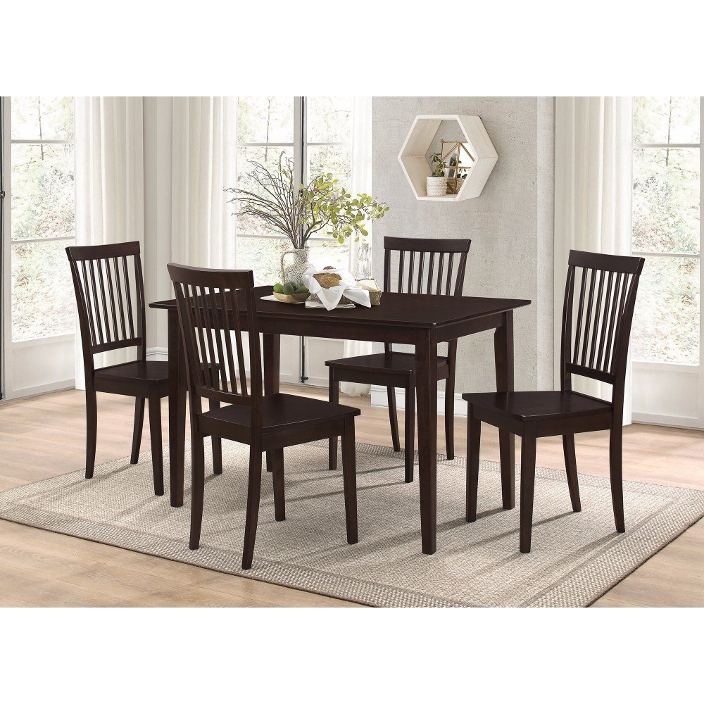 Puentes Wooden 5 Piece Dining Set In Current Pattonsburg 5 Piece Dining Sets (View 3 of 20)