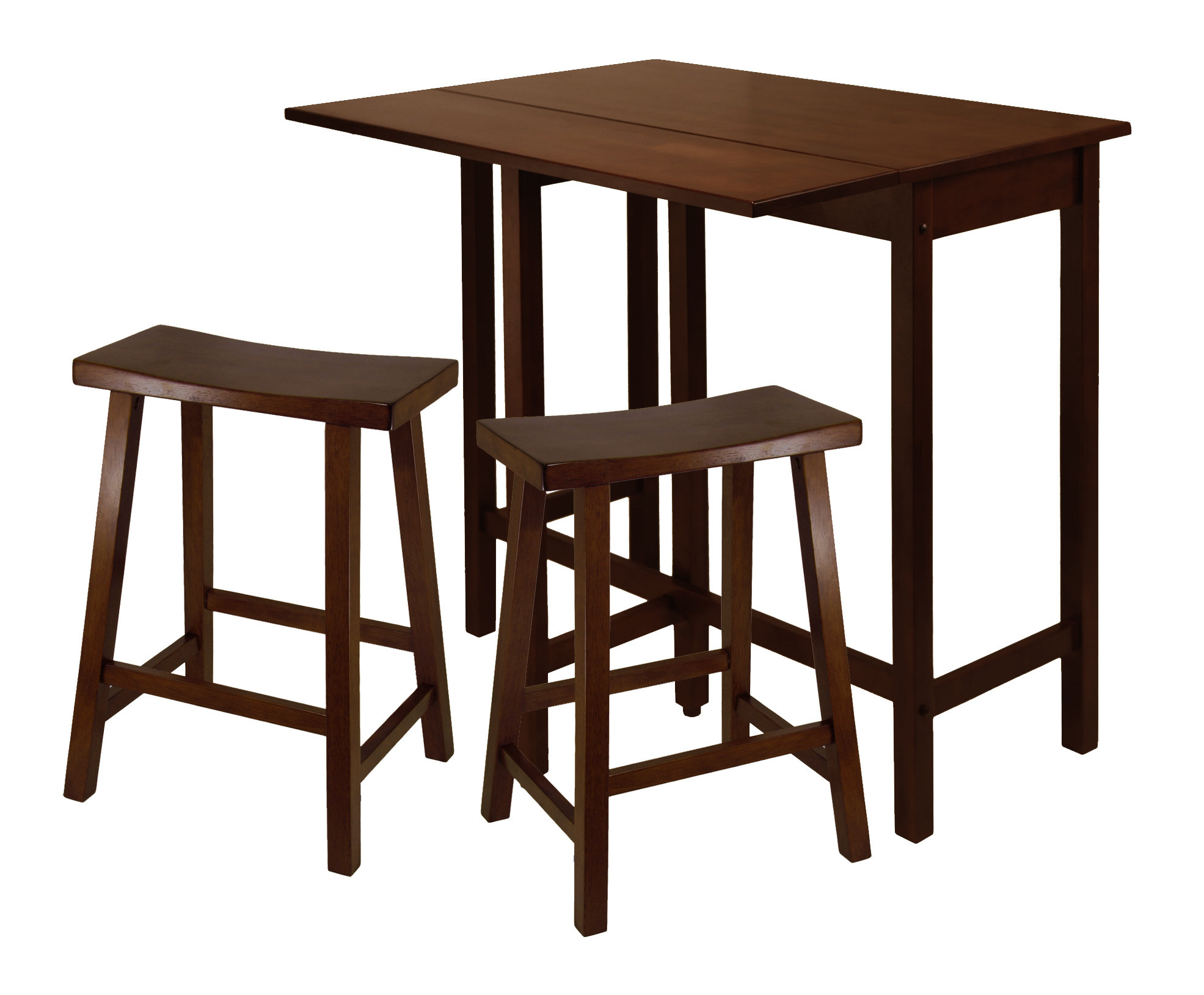 Red Barrel Studio Bettencourt 3 Piece Pub Set Inside Most Recent Bettencourt 3 Piece Counter Height Solid Wood Dining Sets (View 8 of 20)
