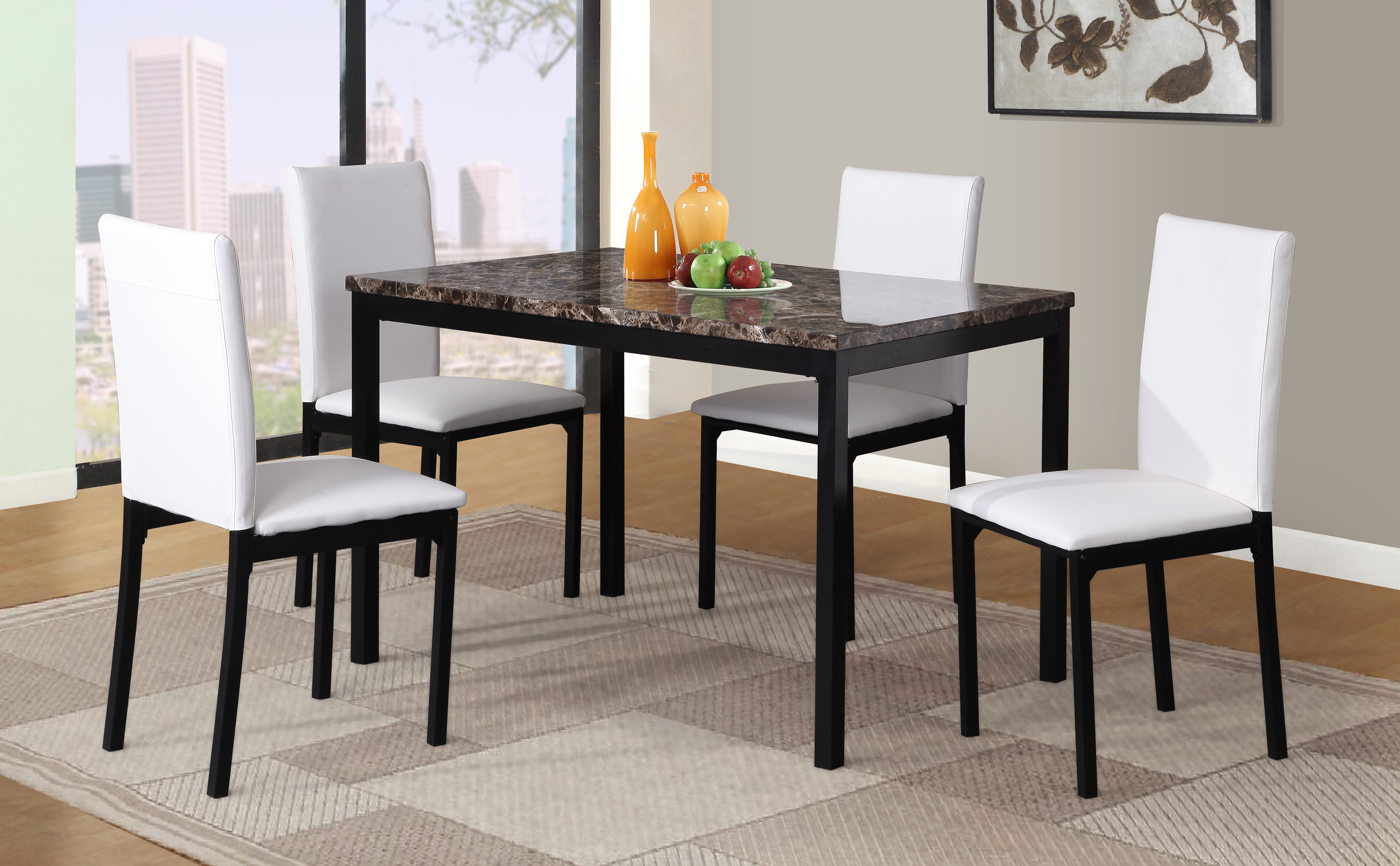 Red Barrel Studio Noyes 5 Piece Dining Set Within Current Noyes 5 Piece Dining Sets (View 3 of 20)
