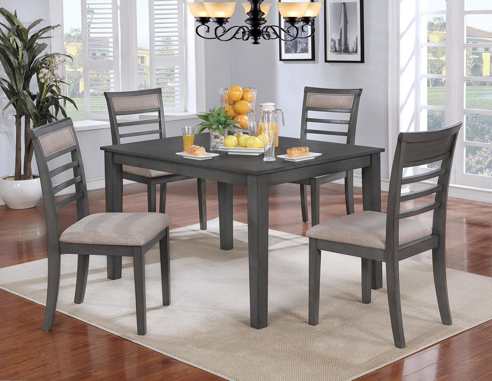 Red Barrel Studio Romel 5 Piece Dining Set Within Most Recent Baxton Studio Keitaro 5 Piece Dining Sets (Photo 3 of 20)