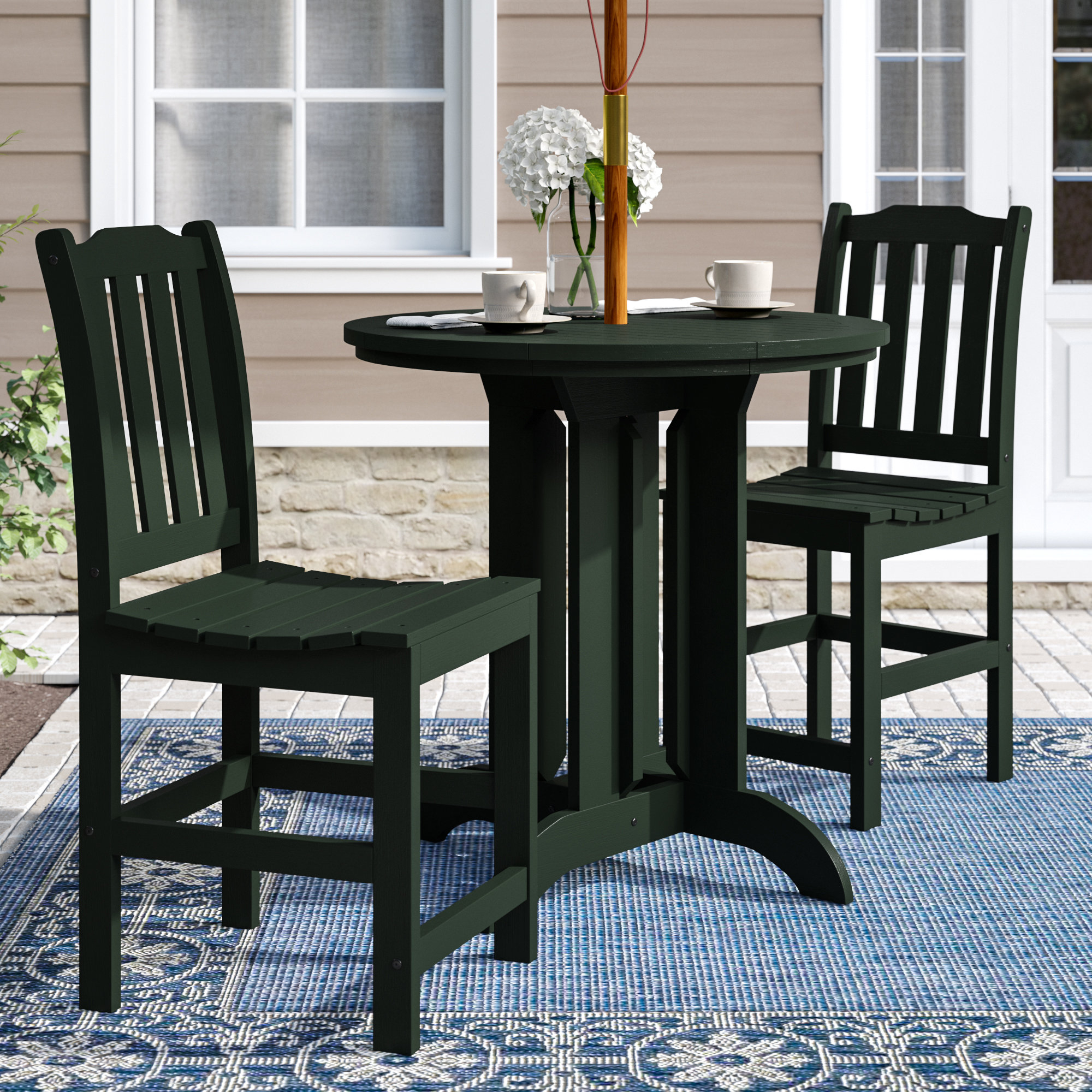 Regan 3 Piece Counter Height Dining Set Inside Most Recently Released Anette 3 Piece Counter Height Dining Sets (Photo 2 of 20)