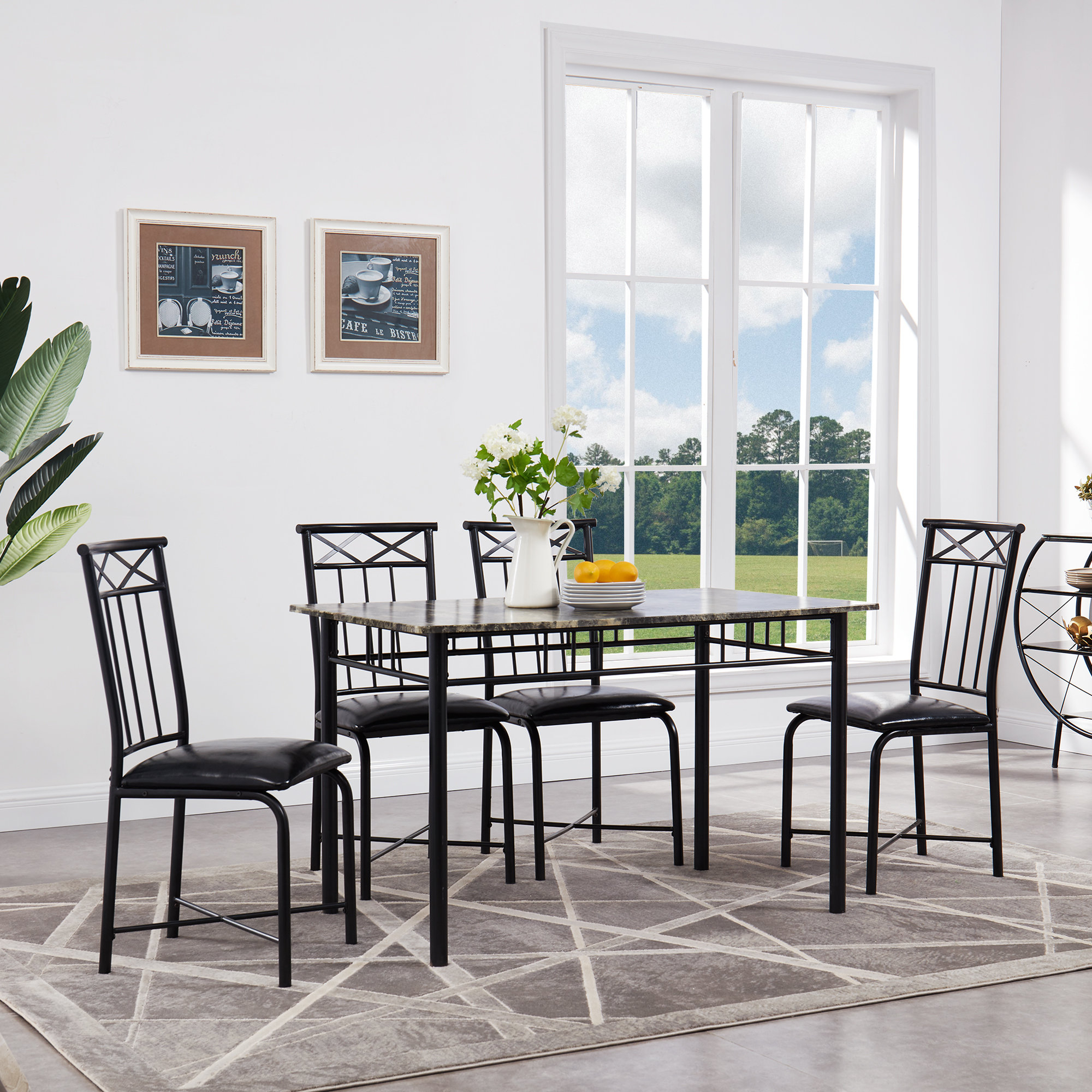 Reinert 5 Piece Dining Set Intended For Most Up To Date Jarrod 5 Piece Dining Sets (Photo 17 of 20)