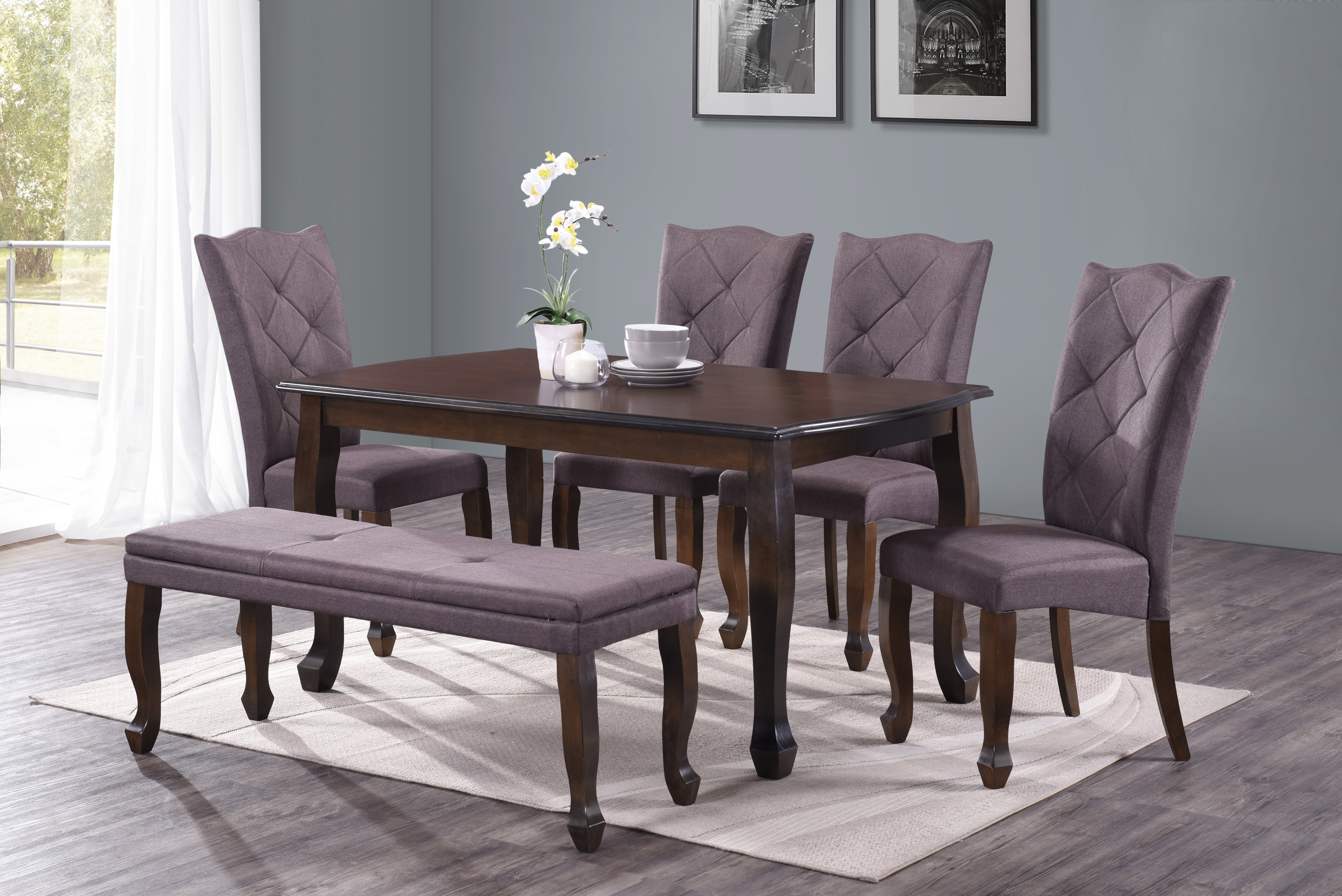 Reyer 6 Piece Dining Set With Regard To Most Up To Date Springfield 3 Piece Dining Sets (View 6 of 20)
