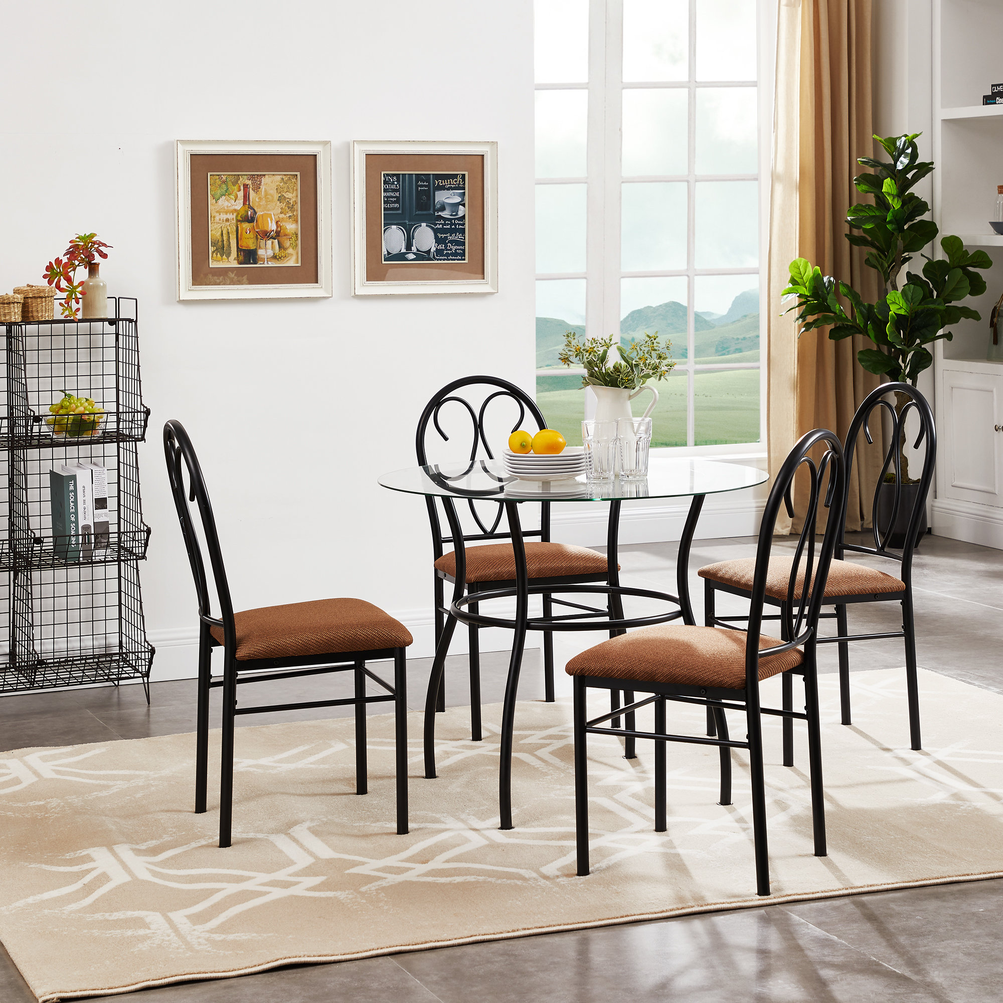 Riceboro 5 Piece Dining Set Regarding Most Popular Turnalar 5 Piece Dining Sets (View 6 of 20)
