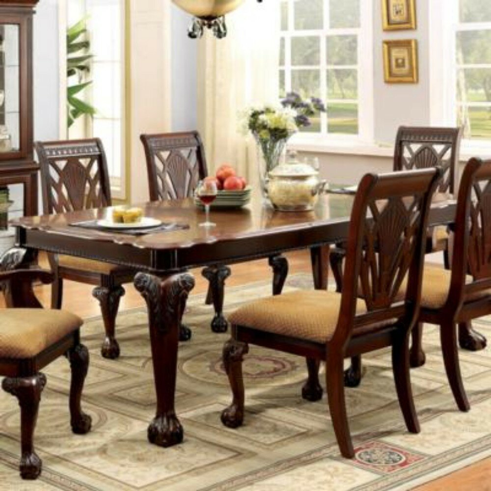 Rina 7 Piece Solid Wood Dining Set Within Most Popular Laconia 7 Pieces Solid Wood Dining Sets (Set Of 7) (View 11 of 20)