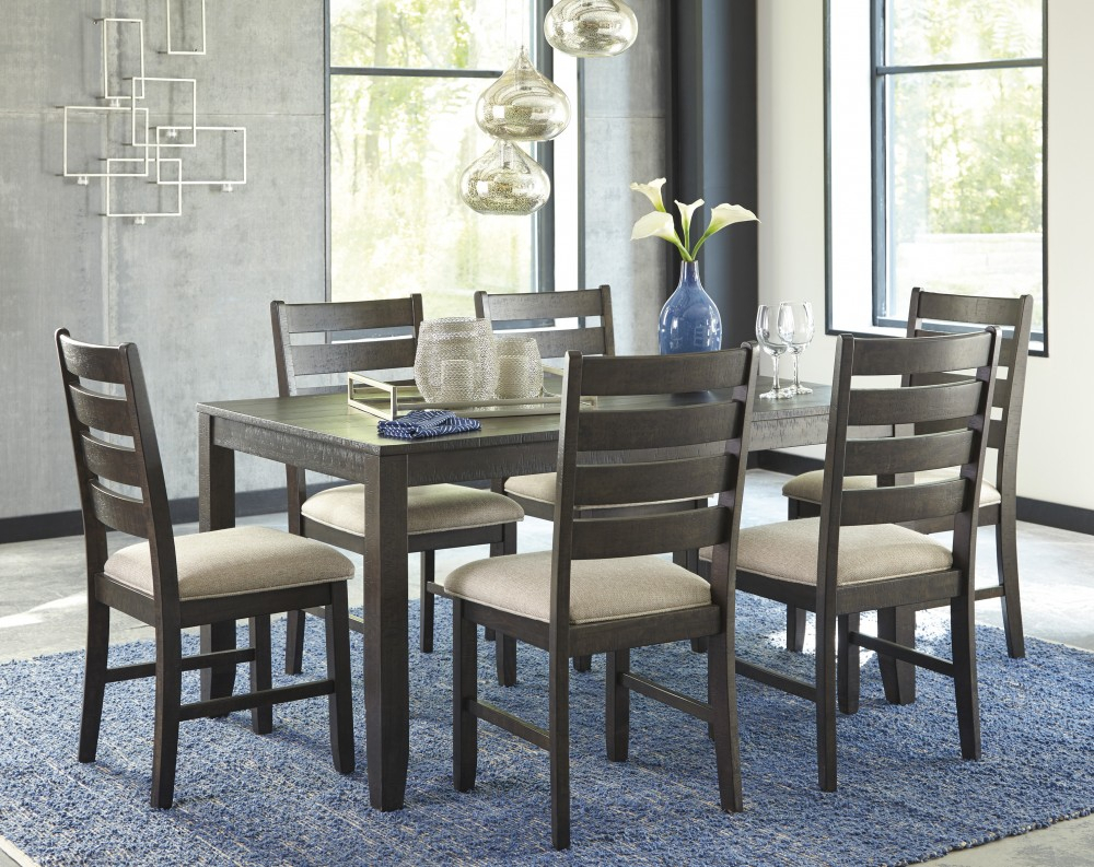 Rokane – Brown – Dining Room Table Set (7/cn) With Regard To Most Current Linette 5 Piece Dining Table Sets (Photo 15 of 20)