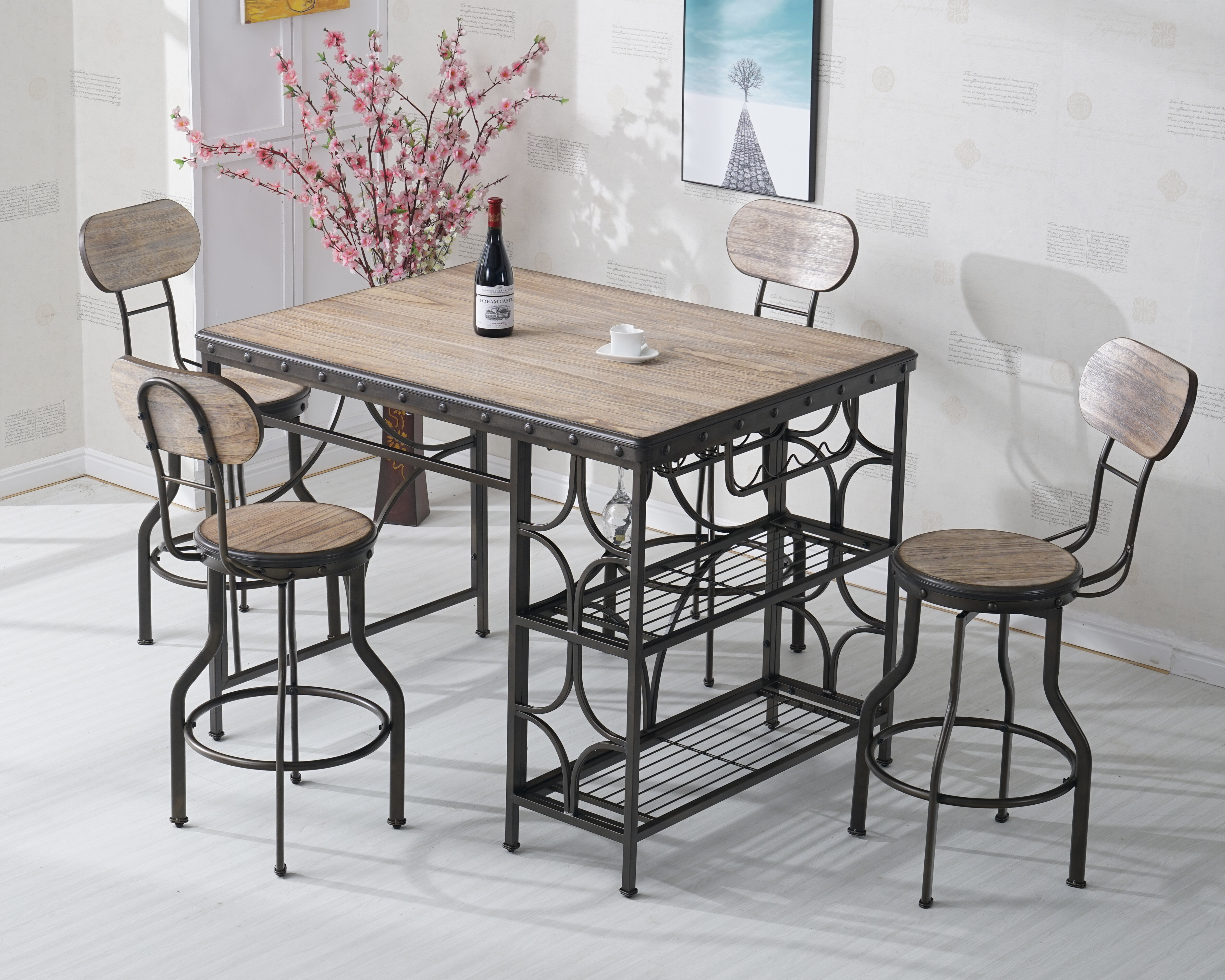 Rosas 5 Piece Dinning Set Throughout 2018 Rossi 5 Piece Dining Sets (Image 11 of 20)