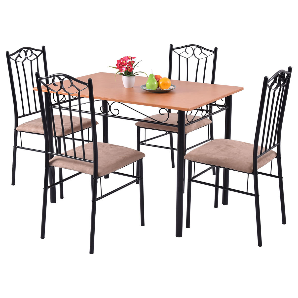Rossi 5 Piece Dining Set In Most Recent Casiano 5 Piece Dining Sets (Image 16 of 20)