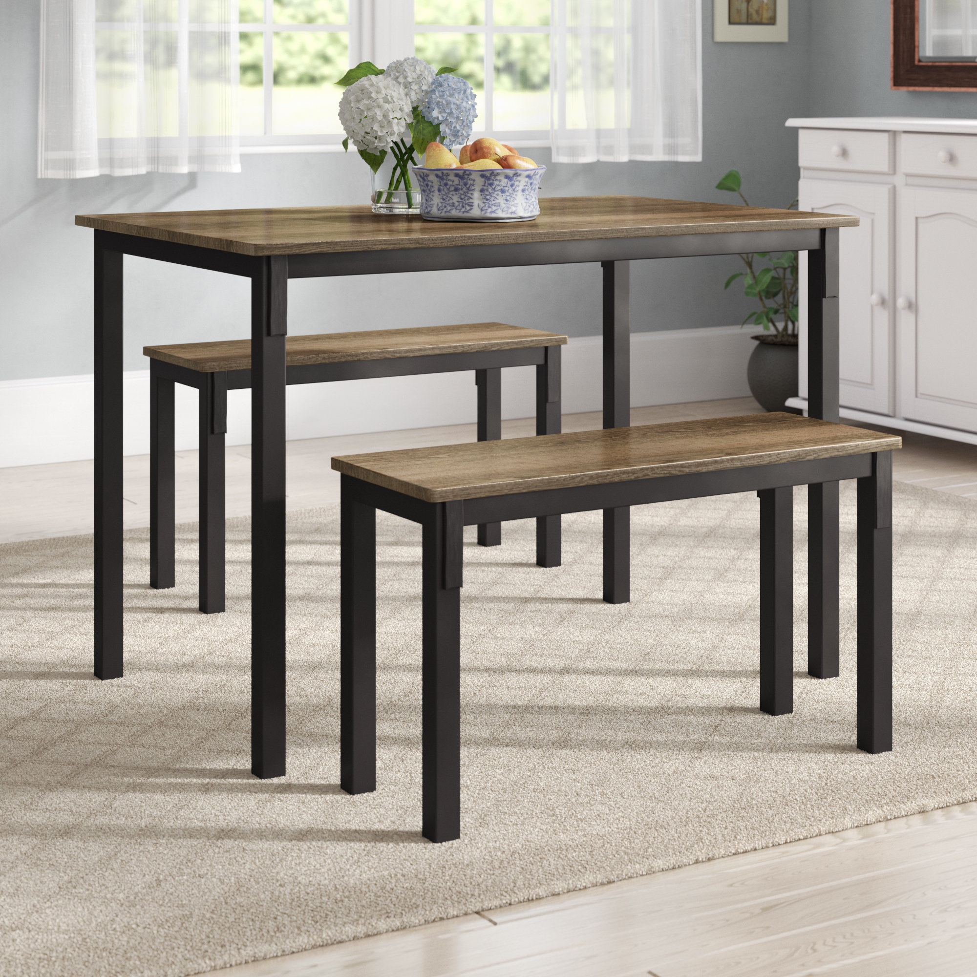 Rossiter 3 Piece Dining Set In Most Recently Released Rossiter 3 Piece Dining Sets (View 1 of 20)
