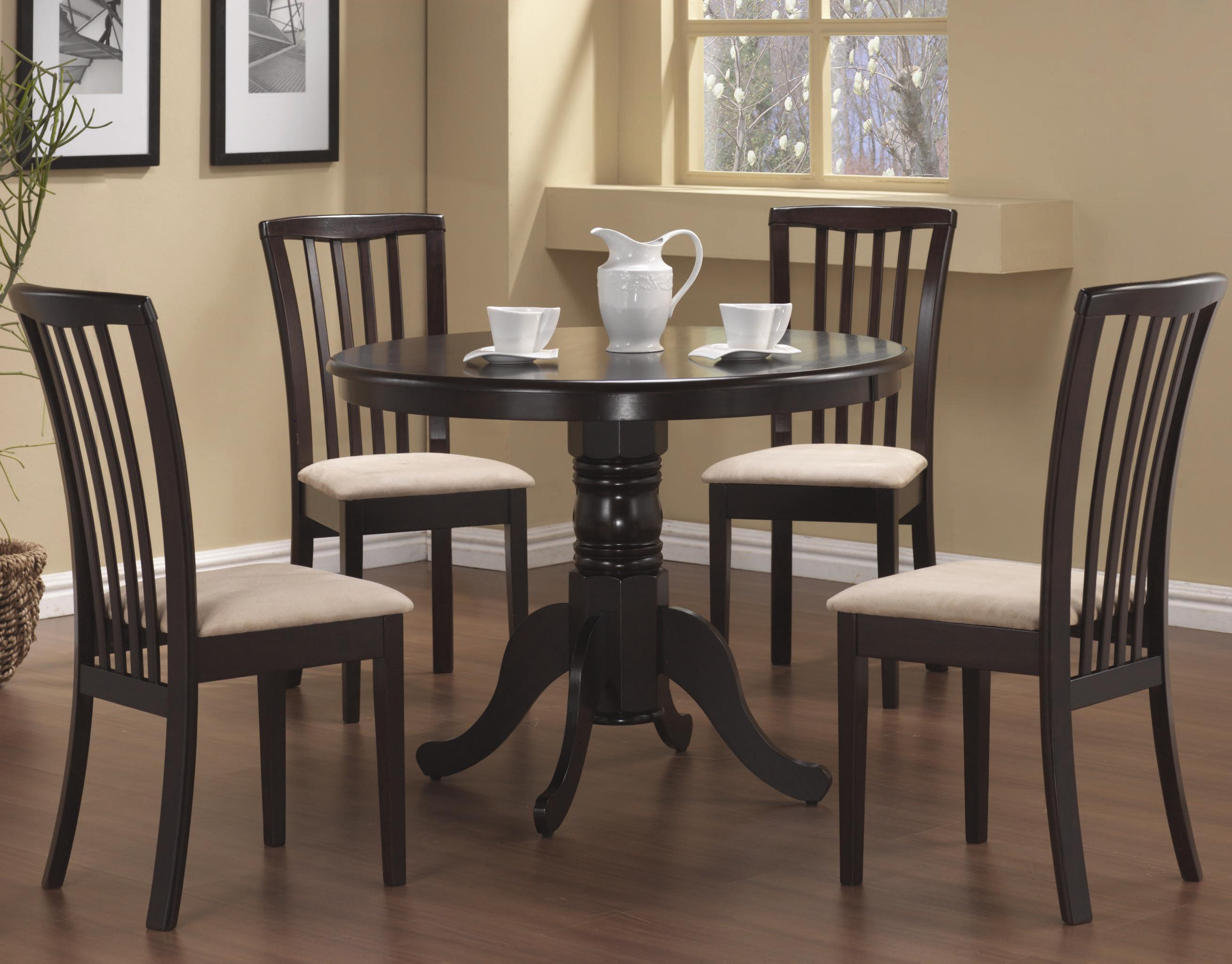 Round Kitchen Table And Chair Set – Home Decor Photos Gallery With Most Recently Released Evellen 5 Piece Solid Wood Dining Sets (Set Of 5) (View 11 of 20)